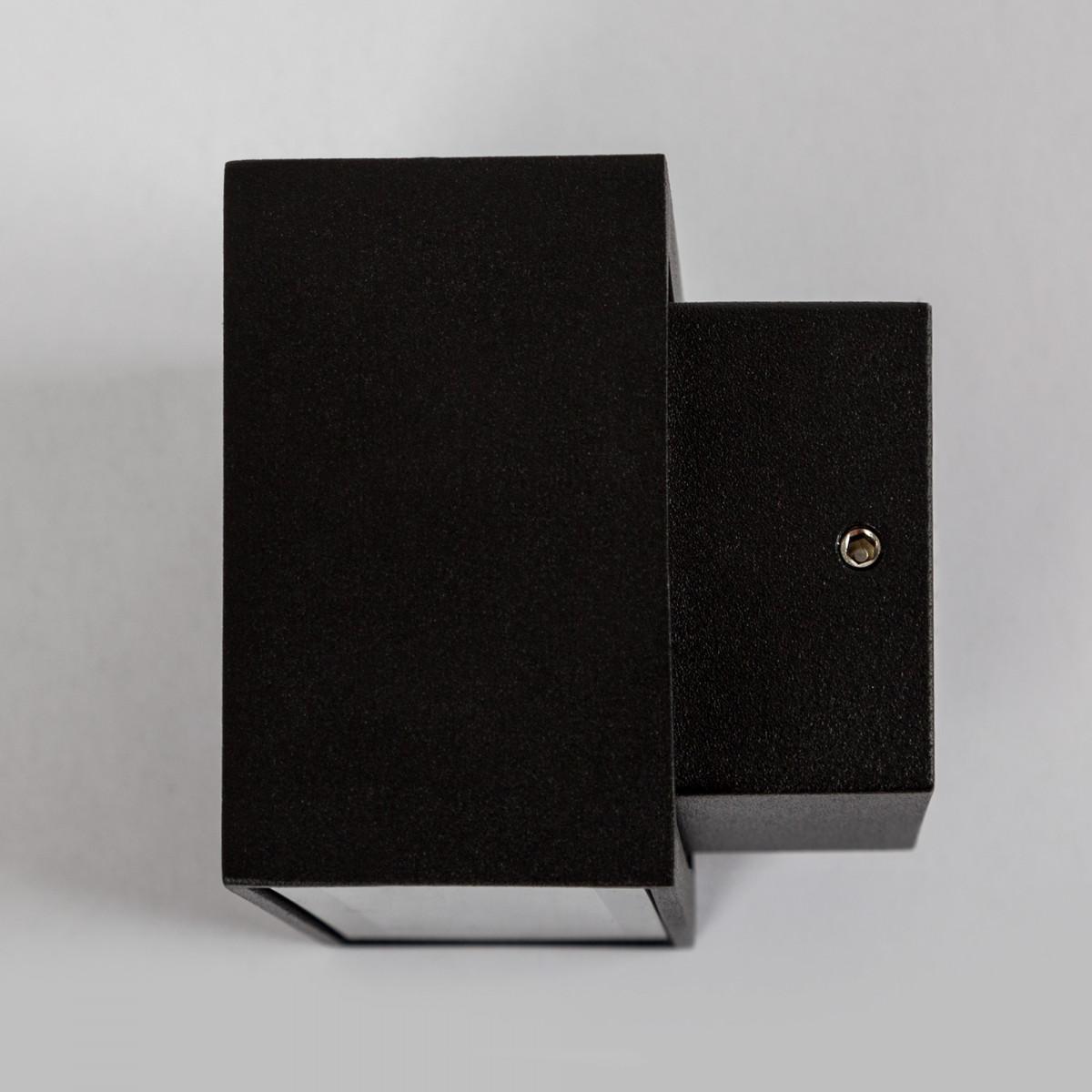 Gevelspot Segment Small led een compacte square aluminium LED wandspot up down kleur zwart, weerbestendige duurzame buitenverlichting merk KS Verlichting