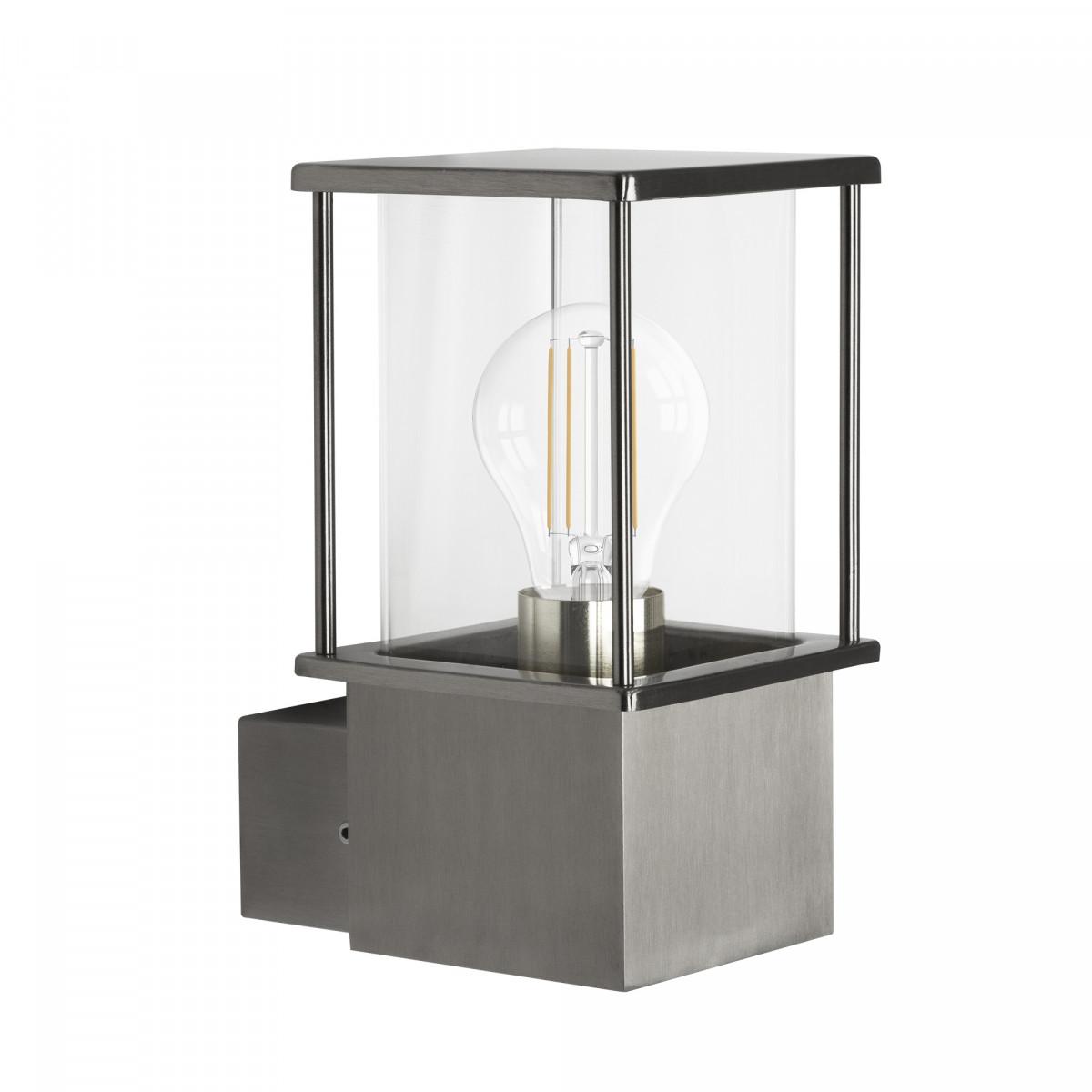 Buitenlamp Astro wandlamp RVS stijlvol en compacte verlichting voor buiten aan de wand met heldere beglazing van het merk KS Verlichting