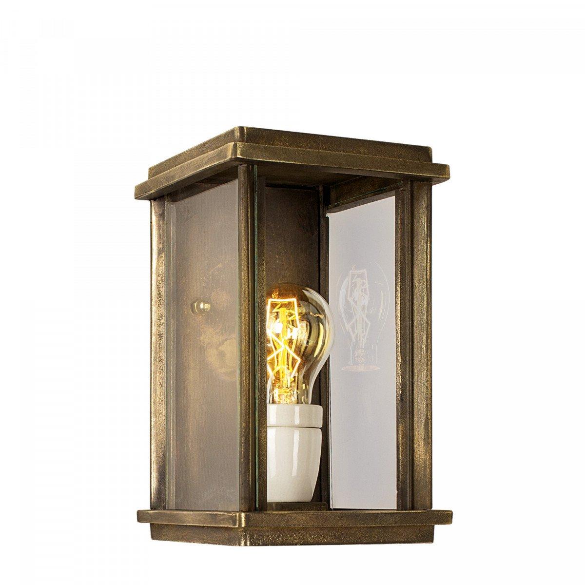 verlichting veranda - bronzen buitenlamp Capital klein - jaren 30 buitenlamp - Nostalux