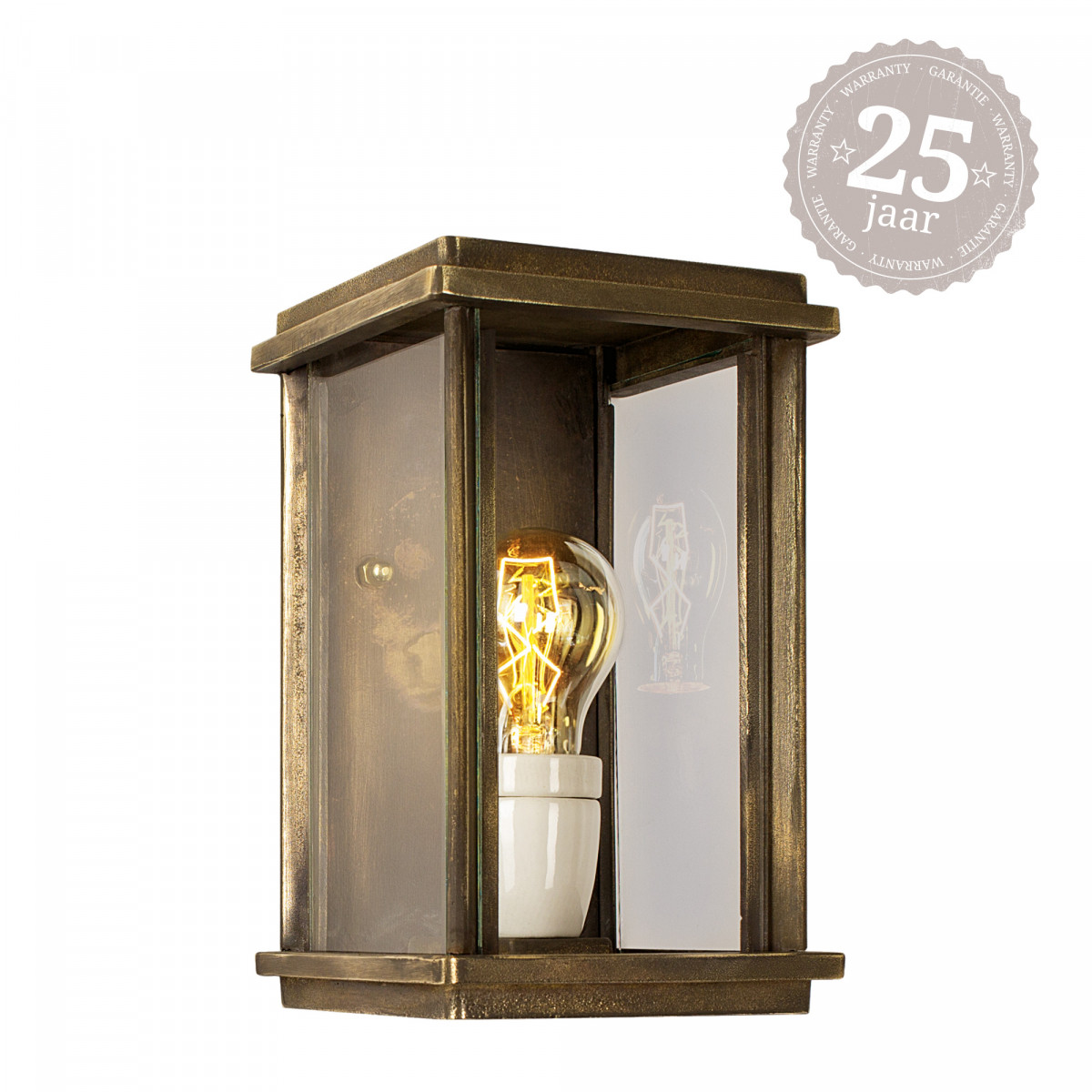 Muurlamp Capital S brons