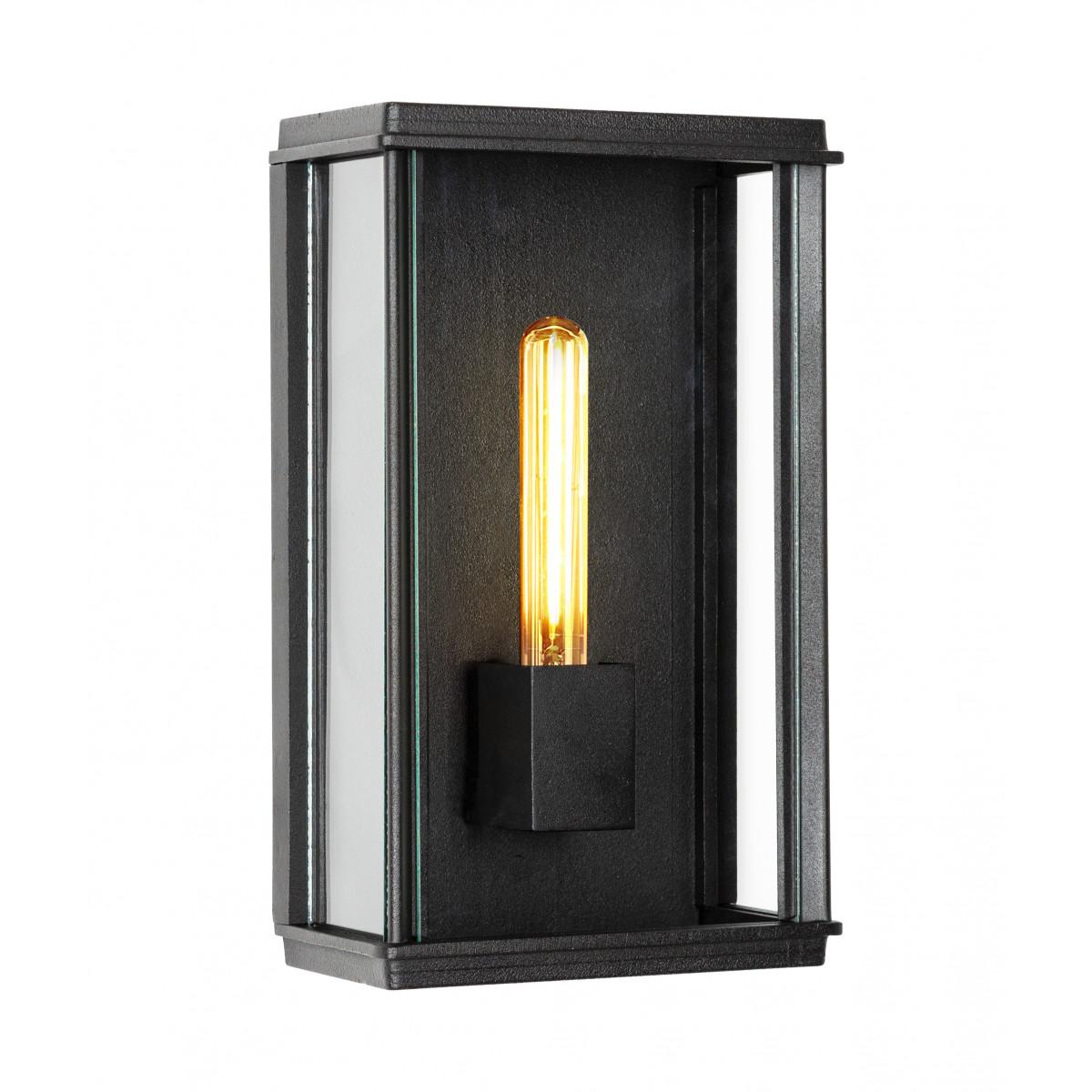 Vierkante stijlvolle zwarte buitenlamp Capital XL wandlamp plat exclusieve buitenverlichting van excellente kwaliteit, exclusieve verlichting voor buiten