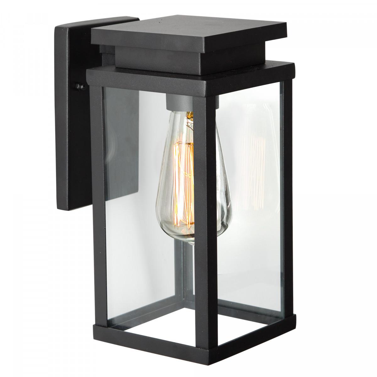 Buitenlamp zwart Jersey Large 7354 strak moderne wandlamp voor buiten, gevellamp KS Verlichting