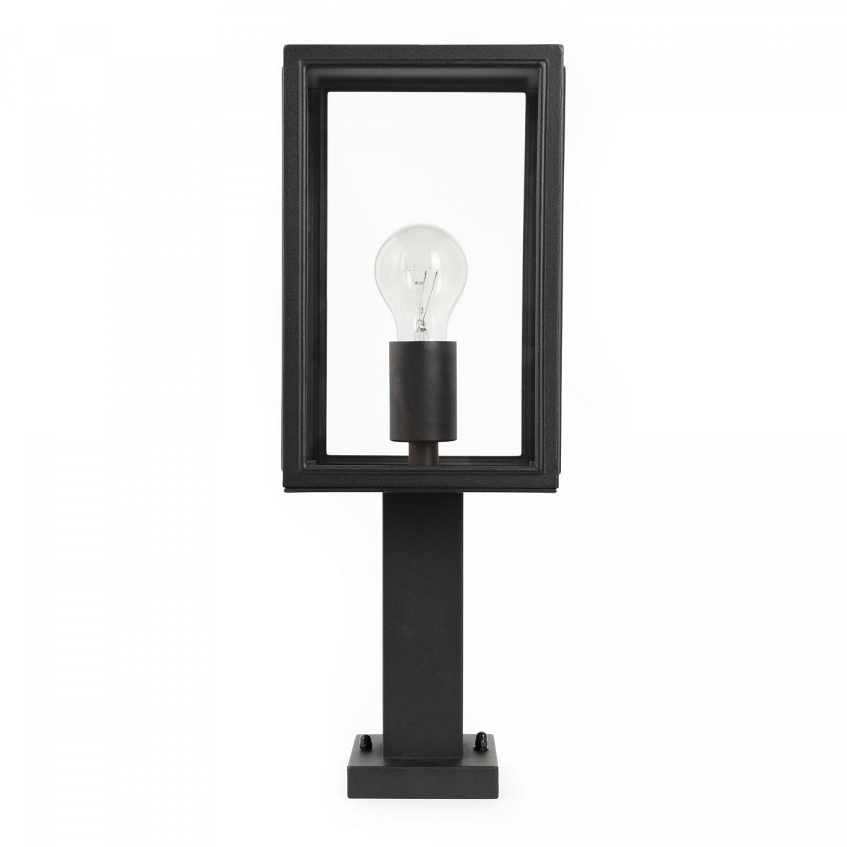 Buitenlamp staand zwart Soho Sokkel moderne zwarte staande buitenverlichting