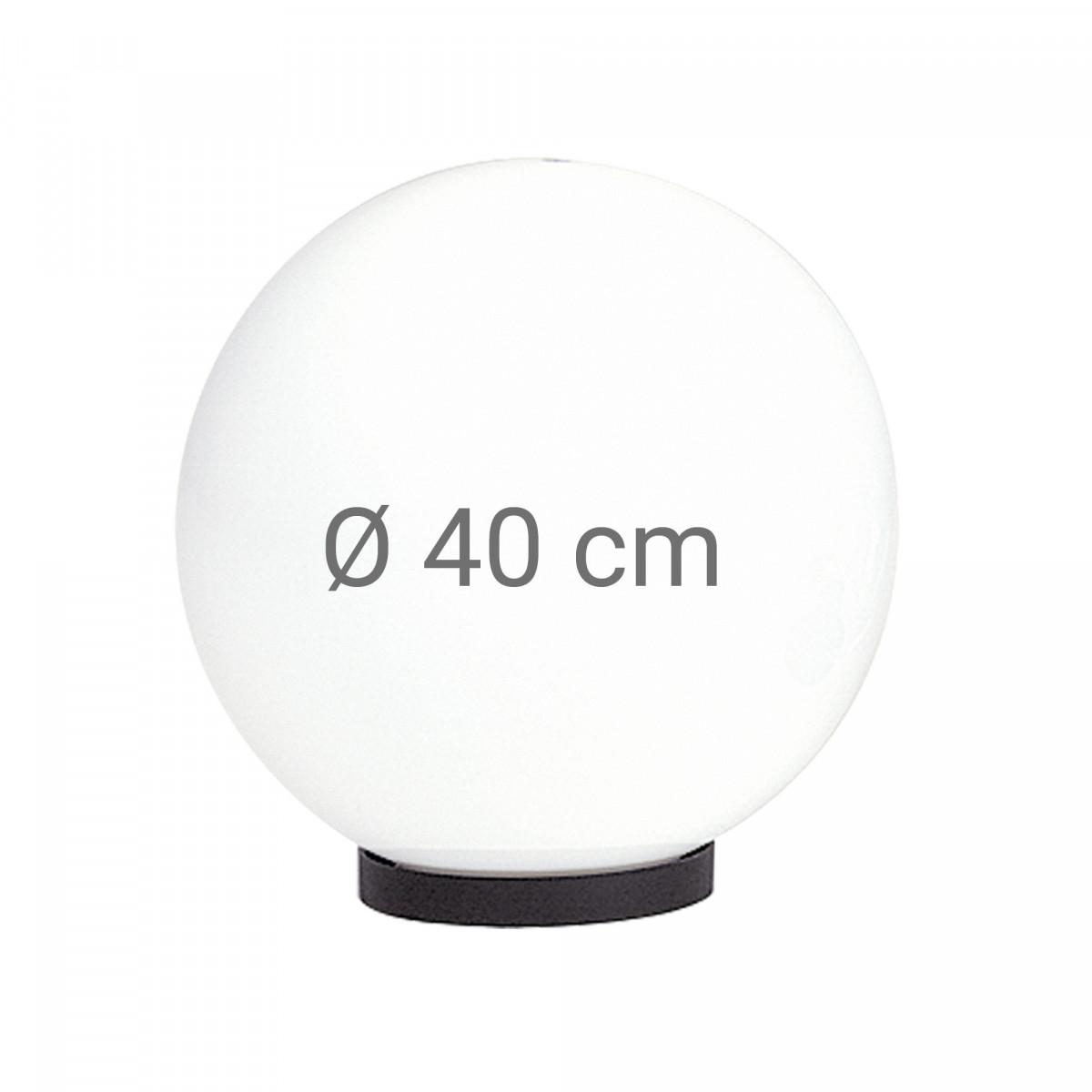 Bol opaal Ø 40 incl. flens (3683) - KS Verlichting - Tuinverlichting Bol