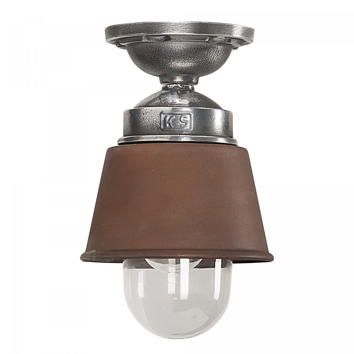 Plafondlamp industrieel Koper