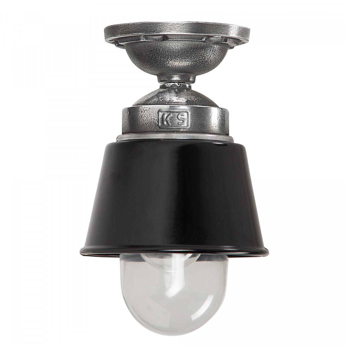Plafondlamp industrieel Zwart