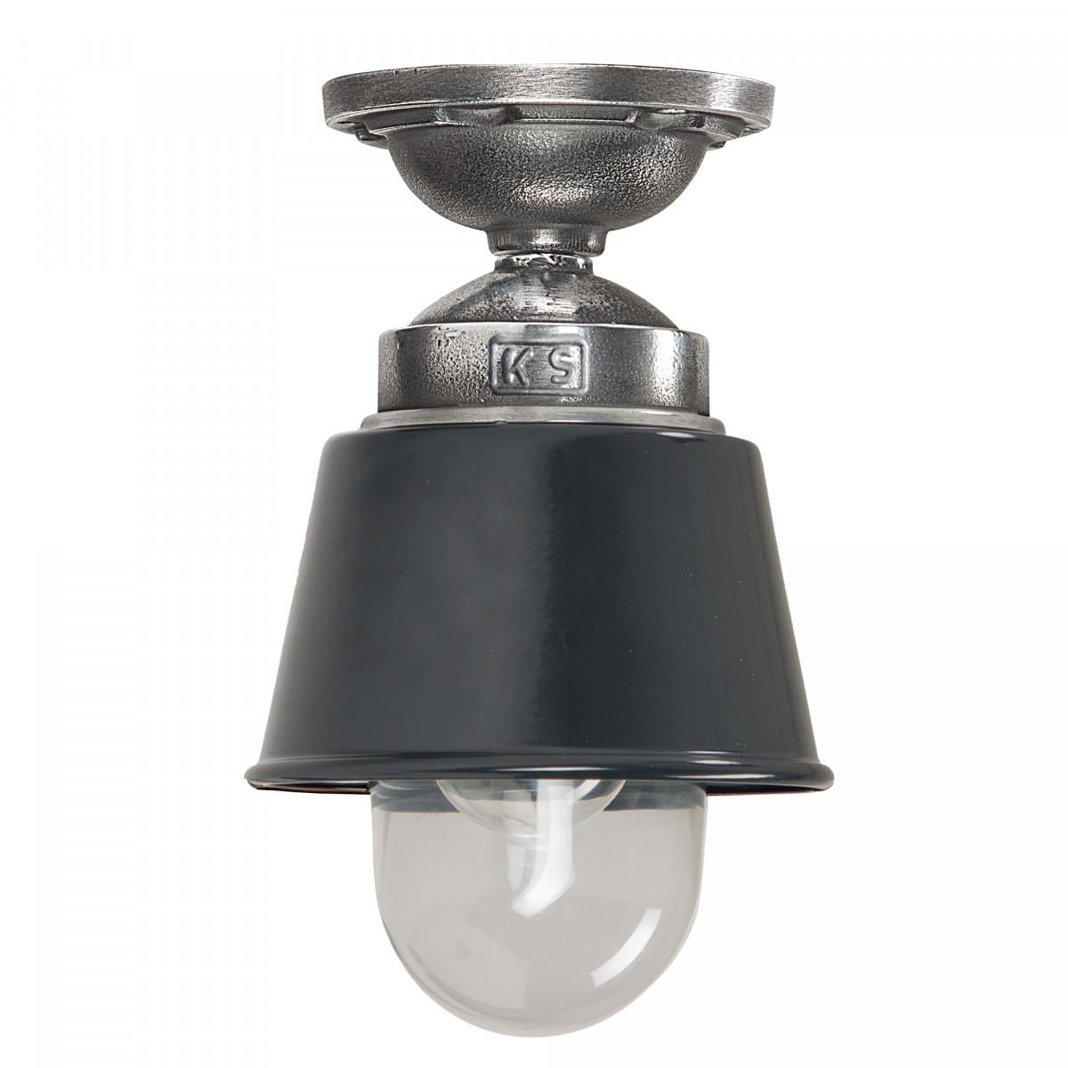 Plafondlamp industrieel Antraciet