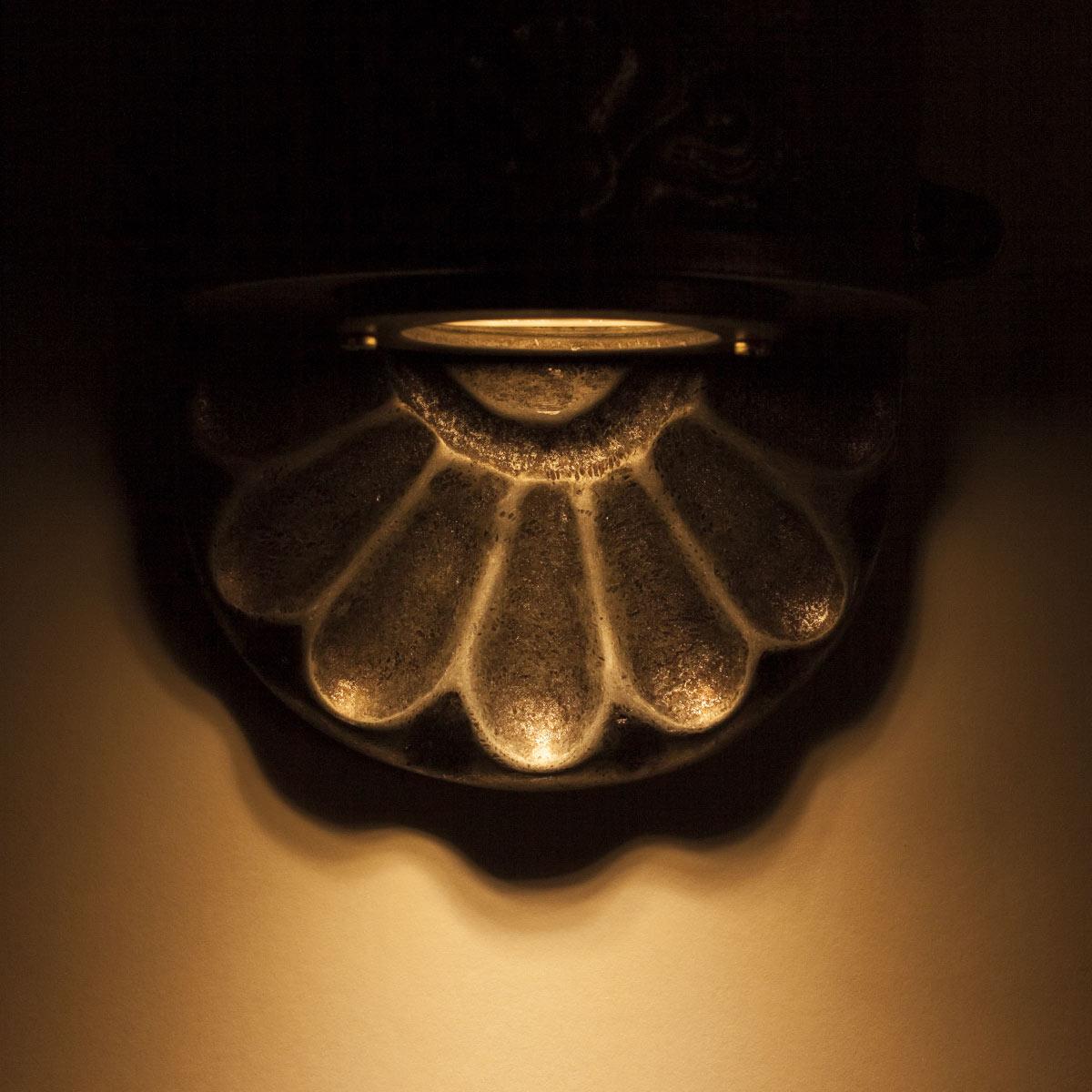 Nostalux buitenlamp - wandspot van Ruw Aluminium - Tramonto