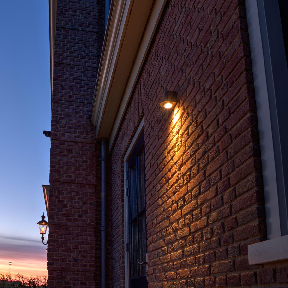 Buitenverlichting, wandspot Offshore, bronzen buitenlamp, downlighter, slijtvast en onderhoudsvrije buitenverlichting, Nostalux.nl