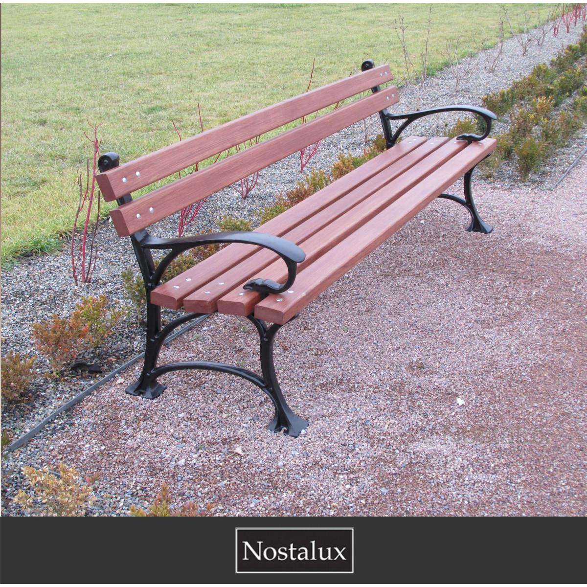 Klassieke robuuste parkbank (1330) - Nostalux - Tuinmeubelen