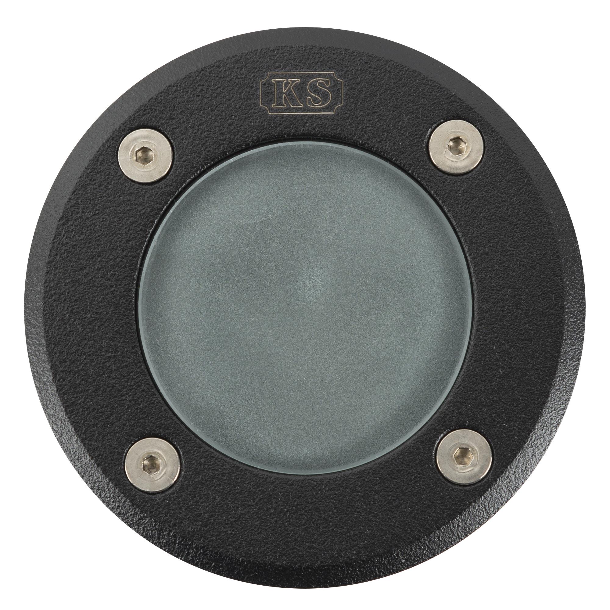 Grondspot Ø10 GU10 zwart