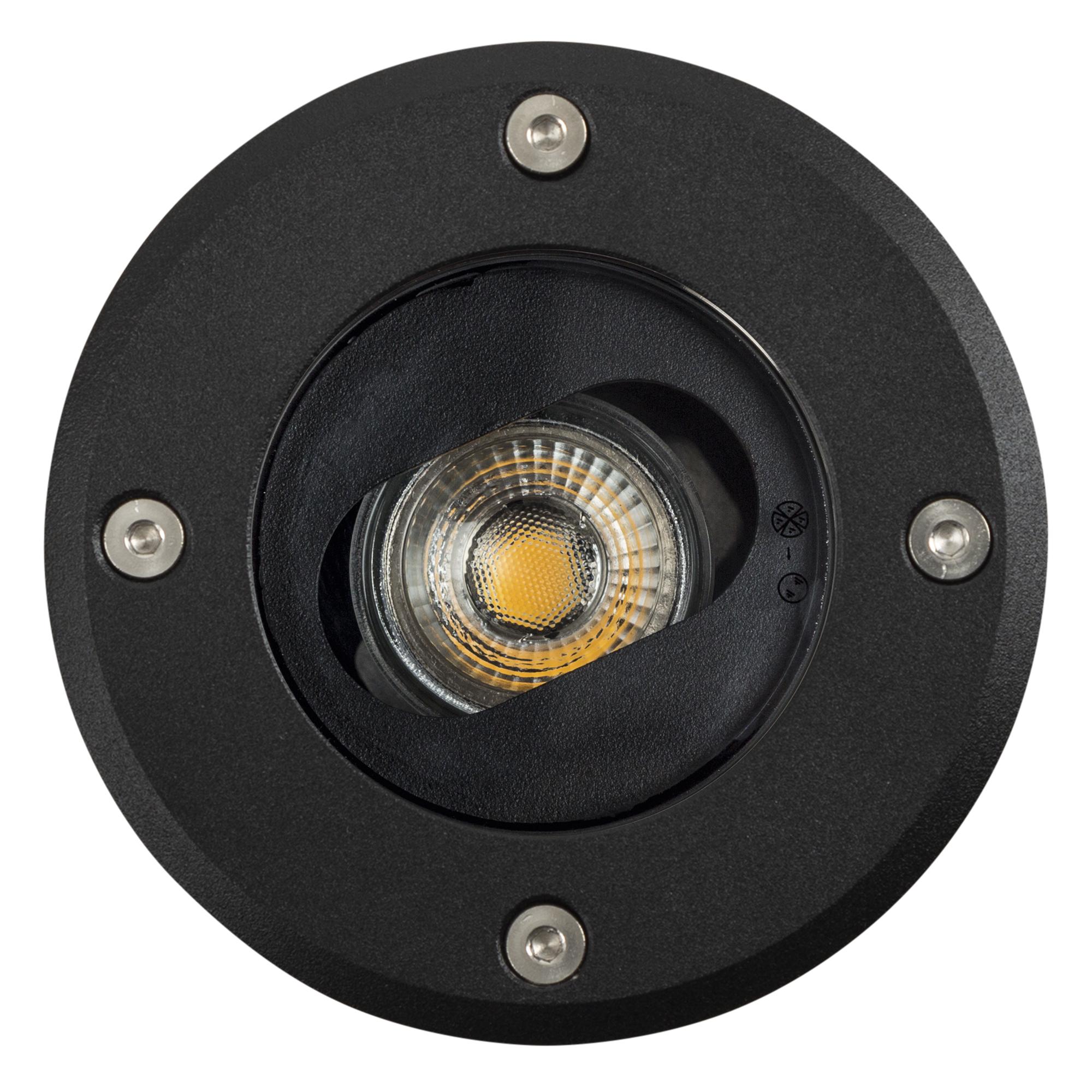 Richtbare Grondspot LED Ø12 Rond zwart