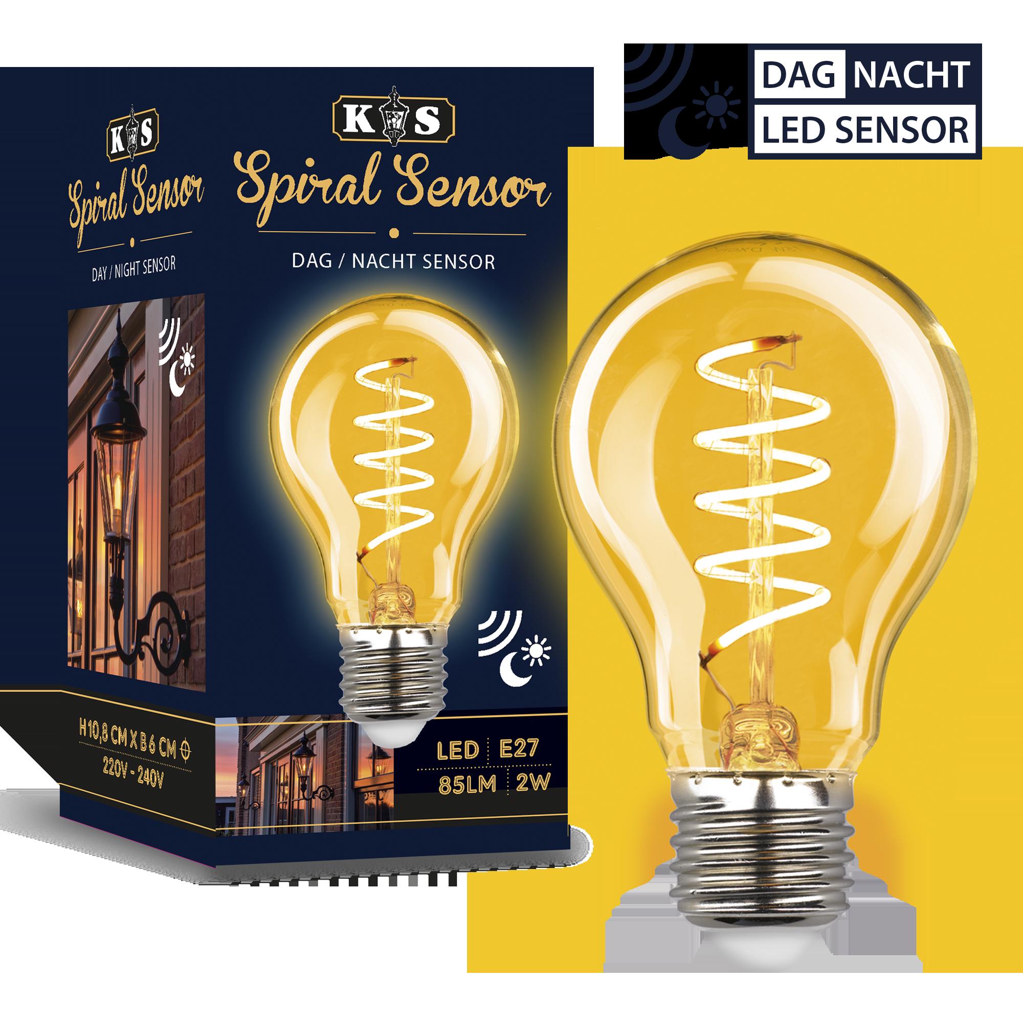 LED Dag / Nacht Sensor spiral