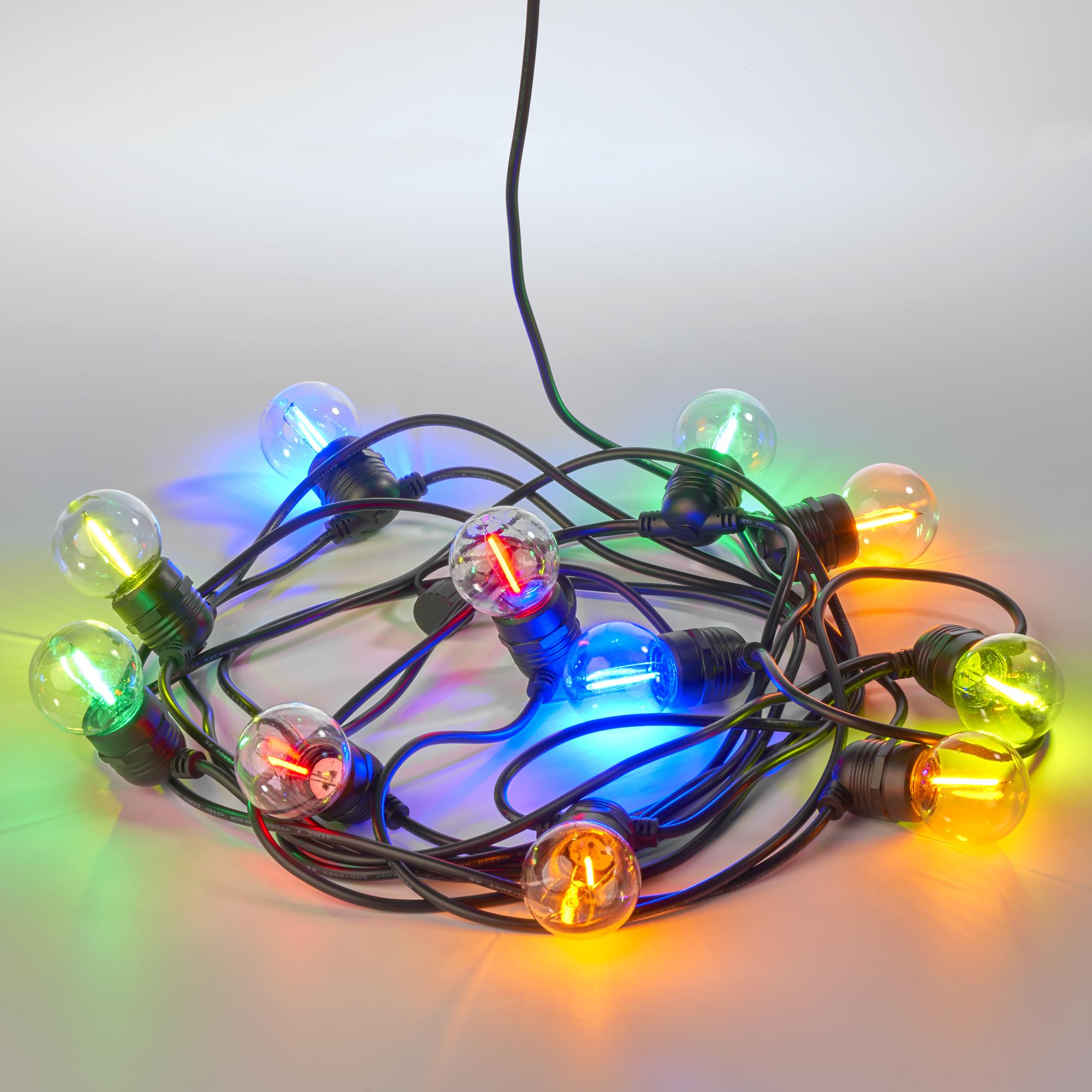 Party 20m Lichtsnoer kleur Incl. LED