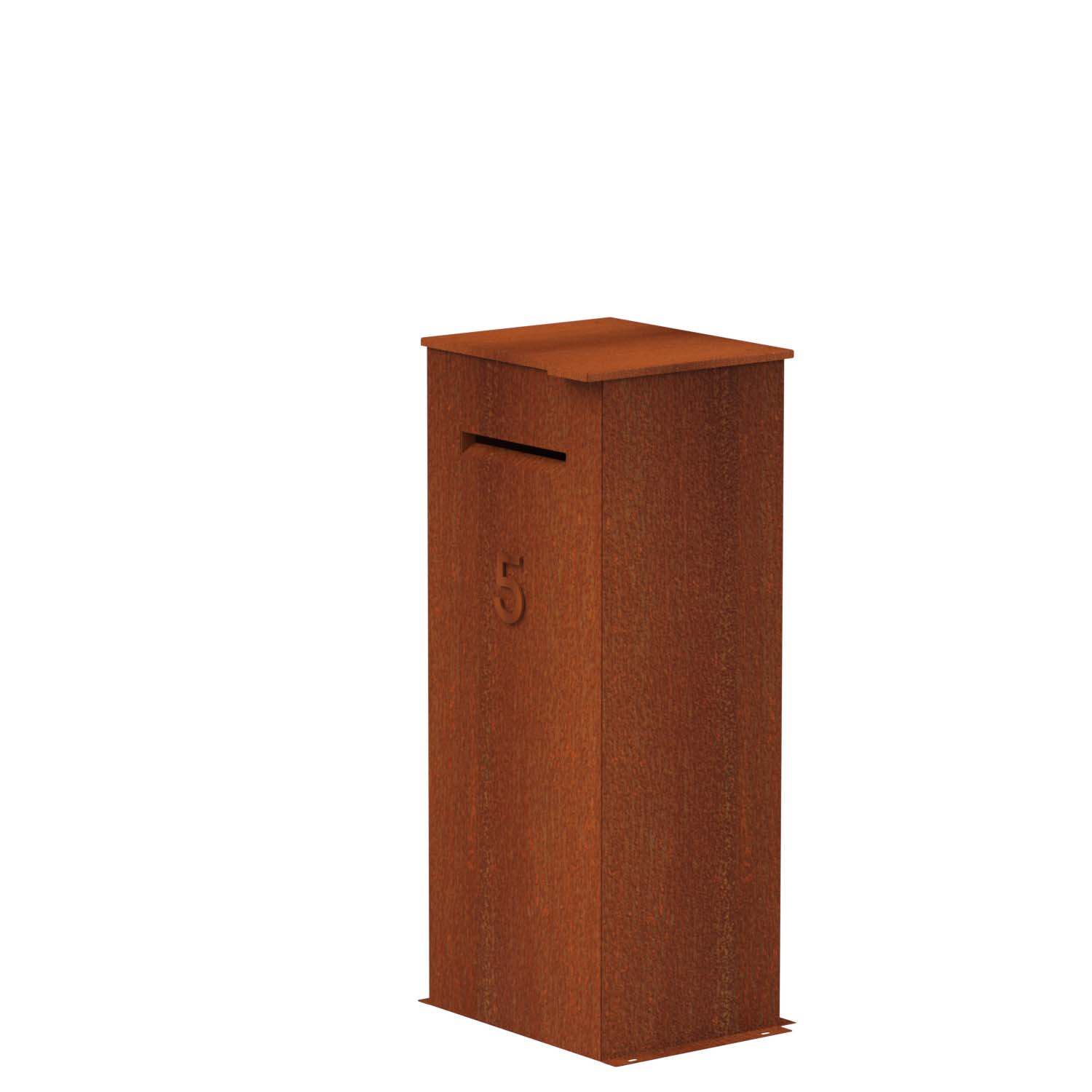 Case corten brievenbus