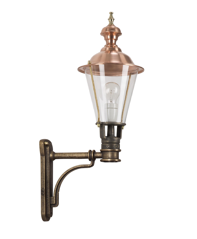 Bronzen wandlamp Glennos
