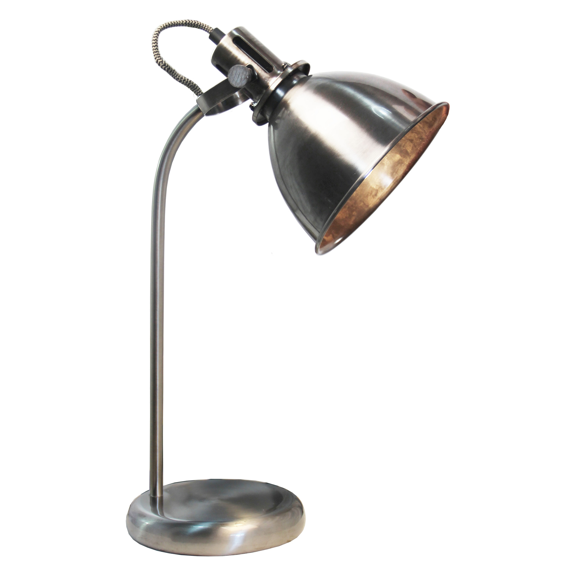 Volta antique silver Leeslamp