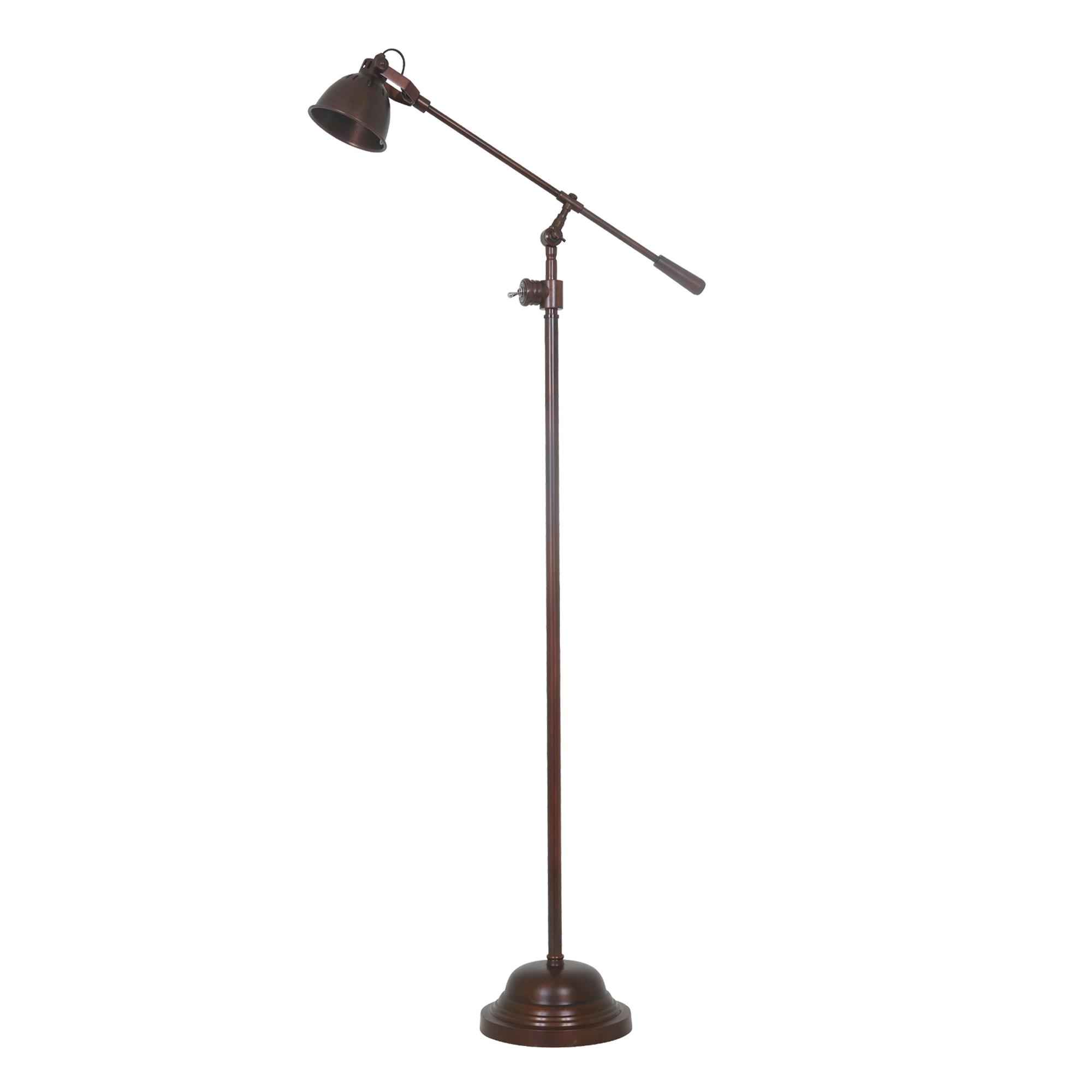 Vloerlamp Archer donker koper