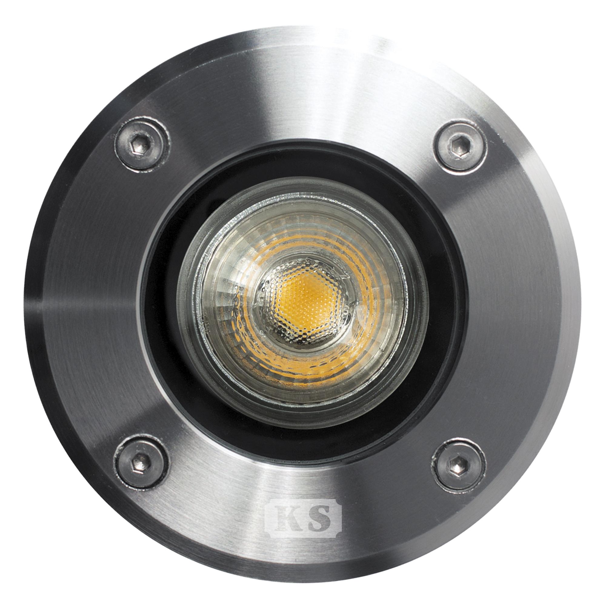 Grondspot LED Ø11 Rond RVS