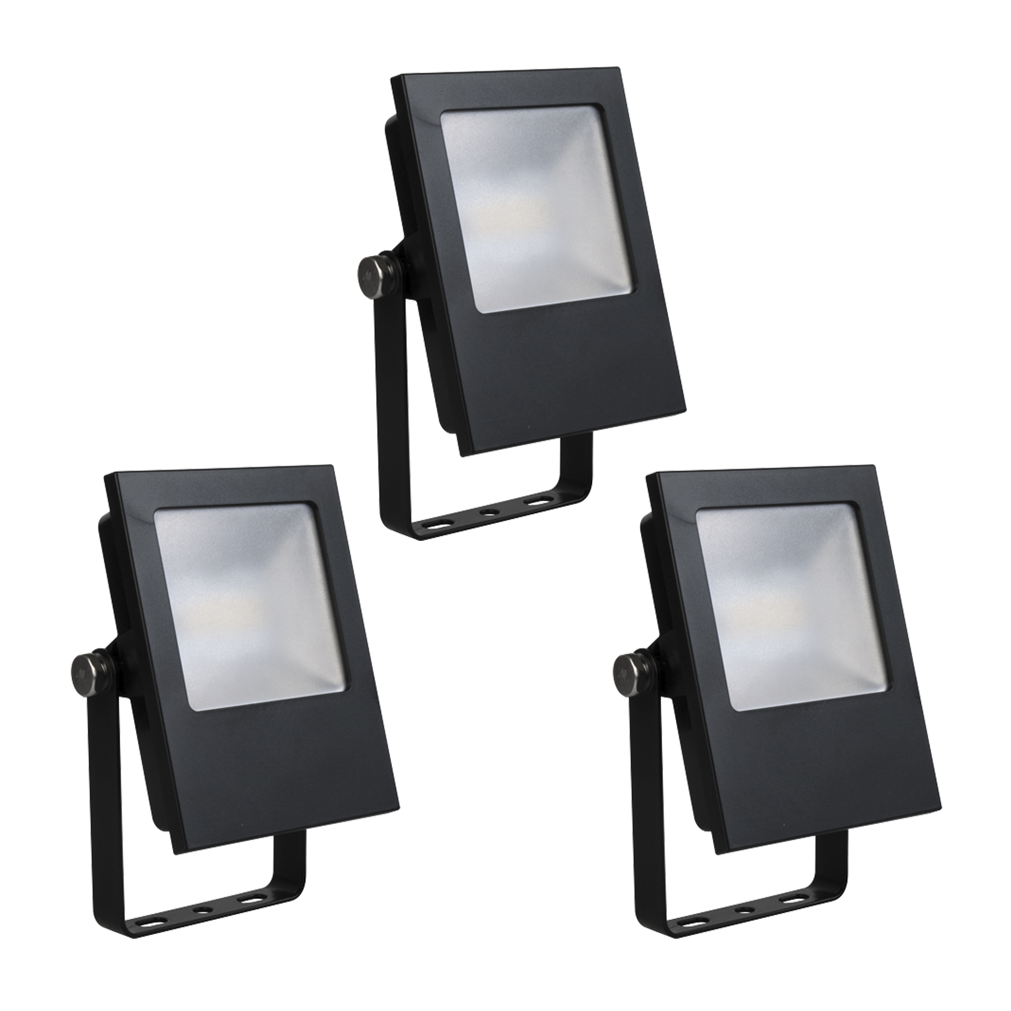 Set 3 stuks Led Floodlight Zwart