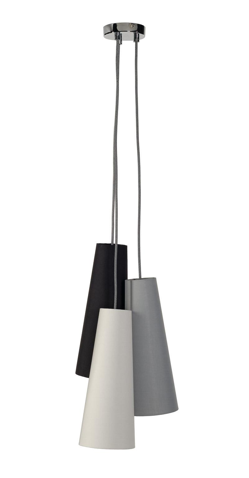 Soprana Cone Pd-2 Zwart/wit/grijs 3xe14