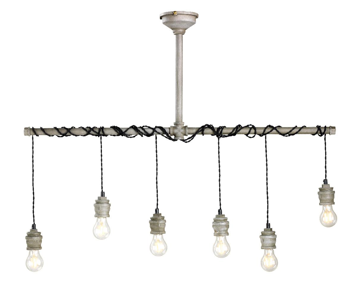 Hanglamp metaal 6 lampen