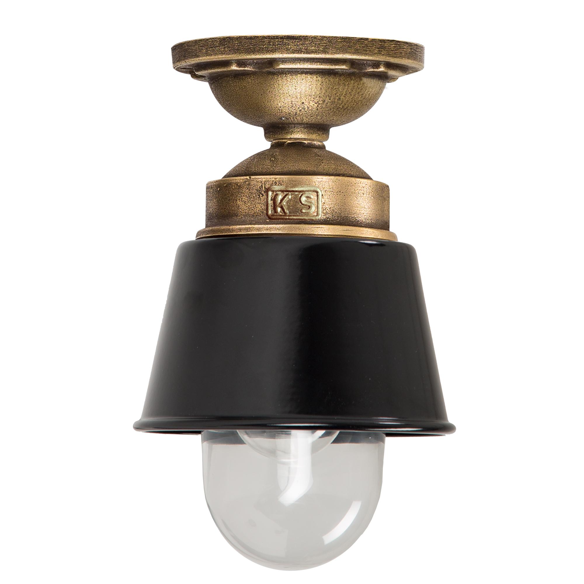 Kostas Brass Plafondlamp Zwart