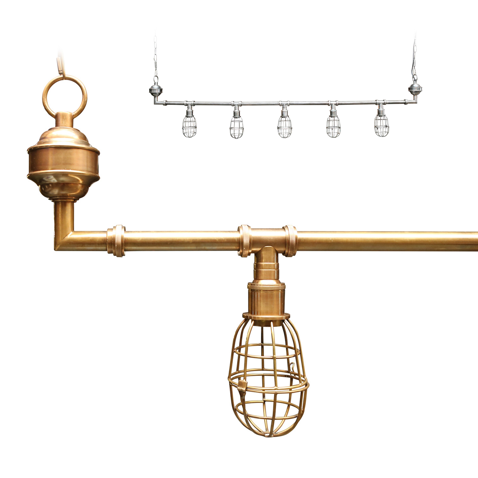 Hanglamp Sandford brass