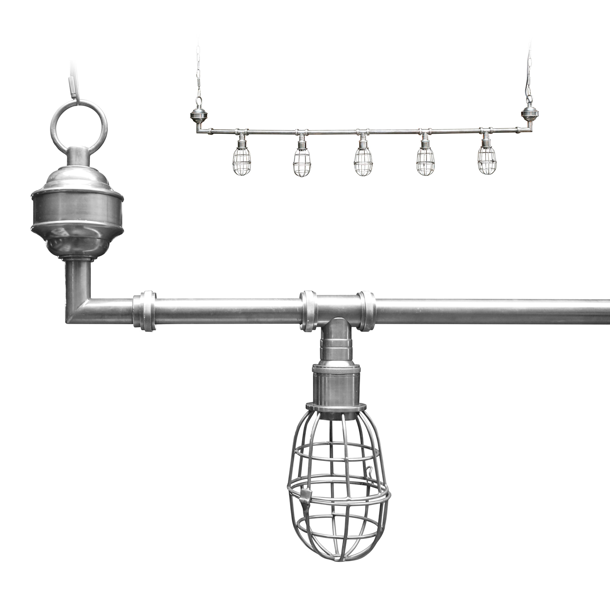 Hanglamp Sandford silver
