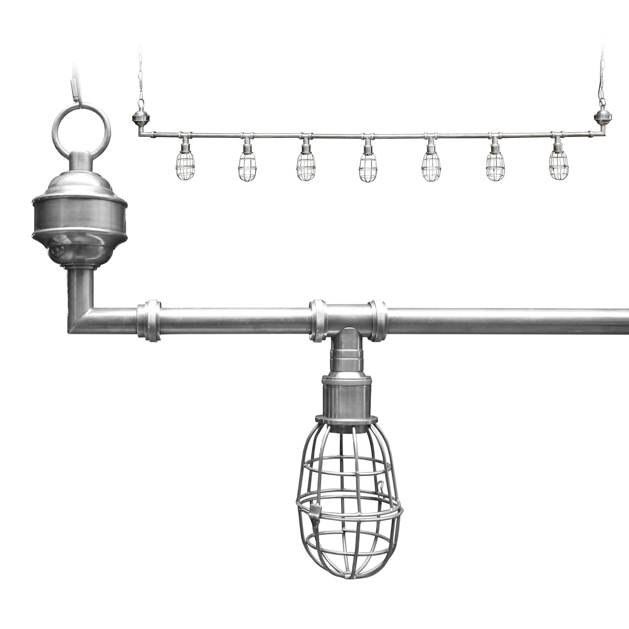 Hanglamp Sandford 7-l silver