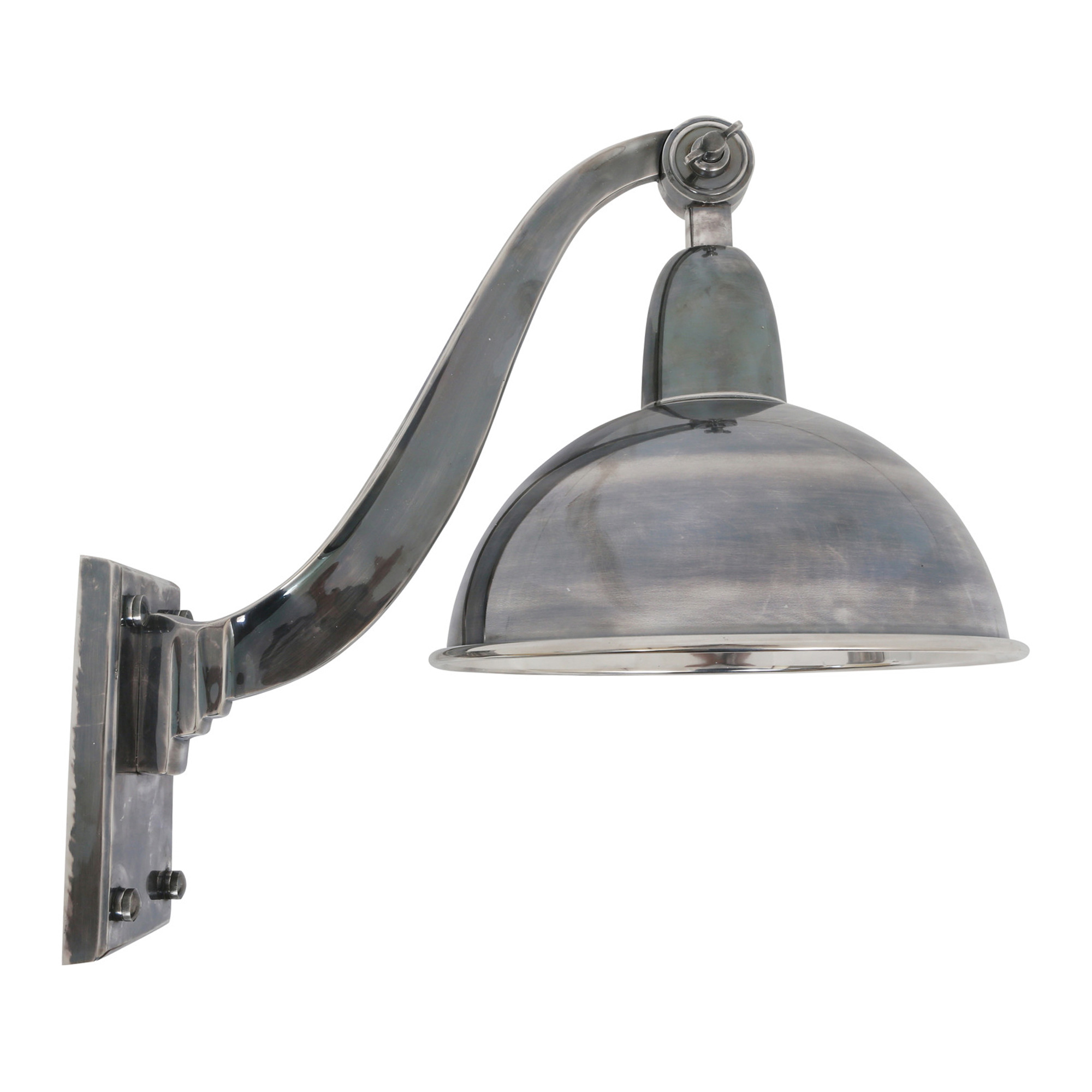 Wandlamp Halifax antique silver