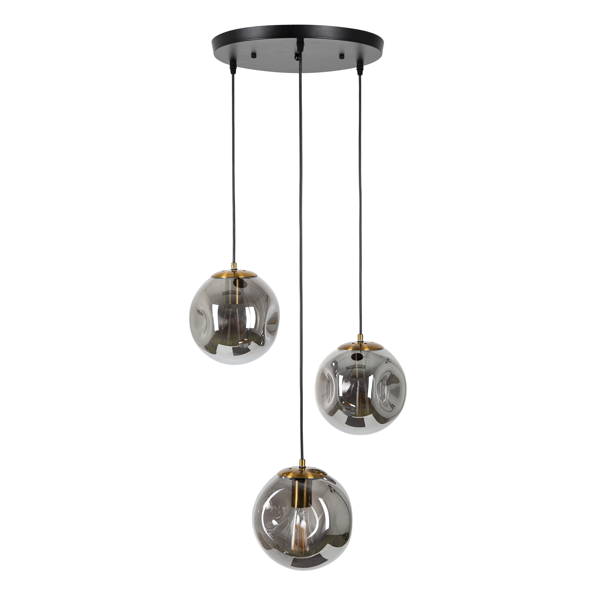Orbs hanglamp 3-lichts rond