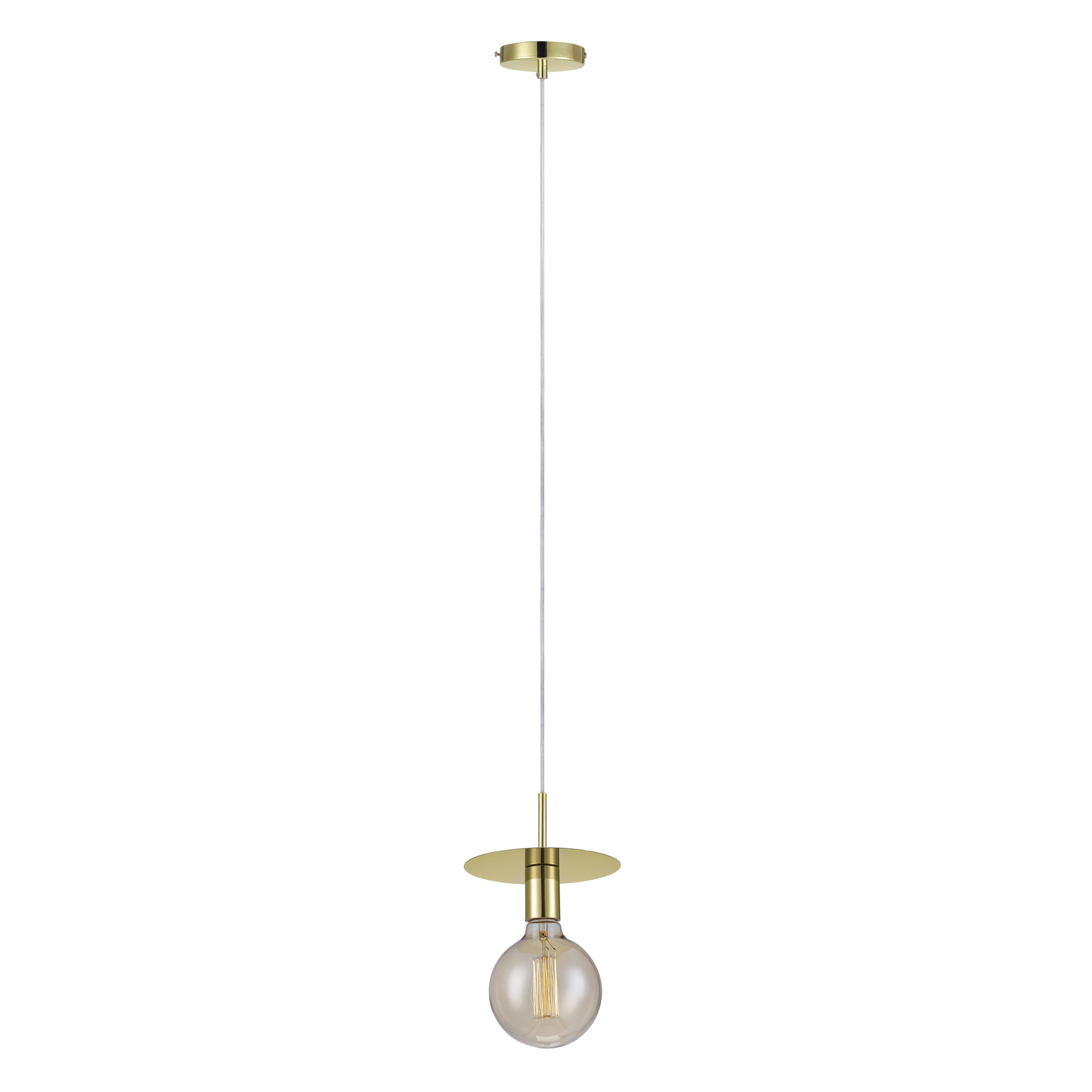 Disc 1-lichts Hanglamp messing