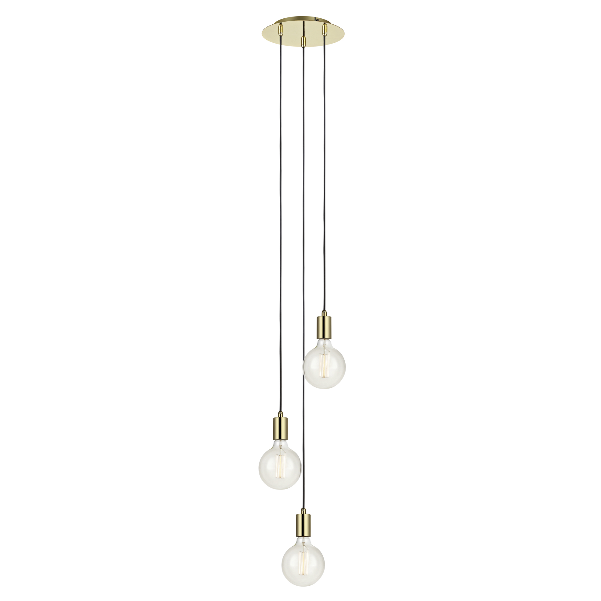 Sky 3-lichts Hanglamp messing