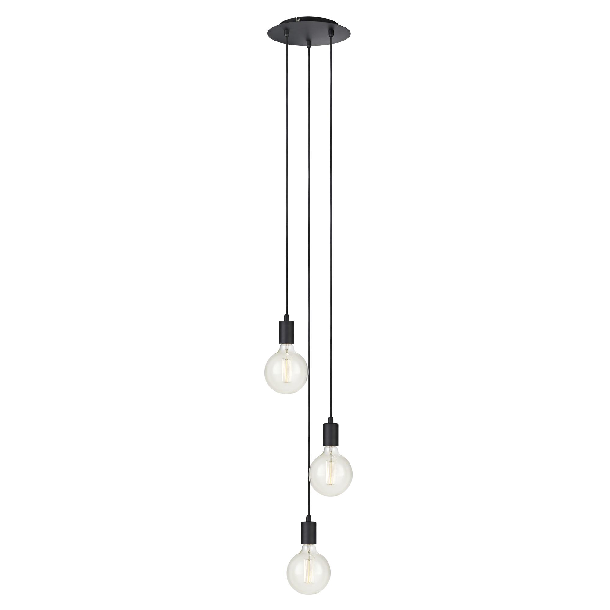 Sky 3-lichts Hanglamp zwart