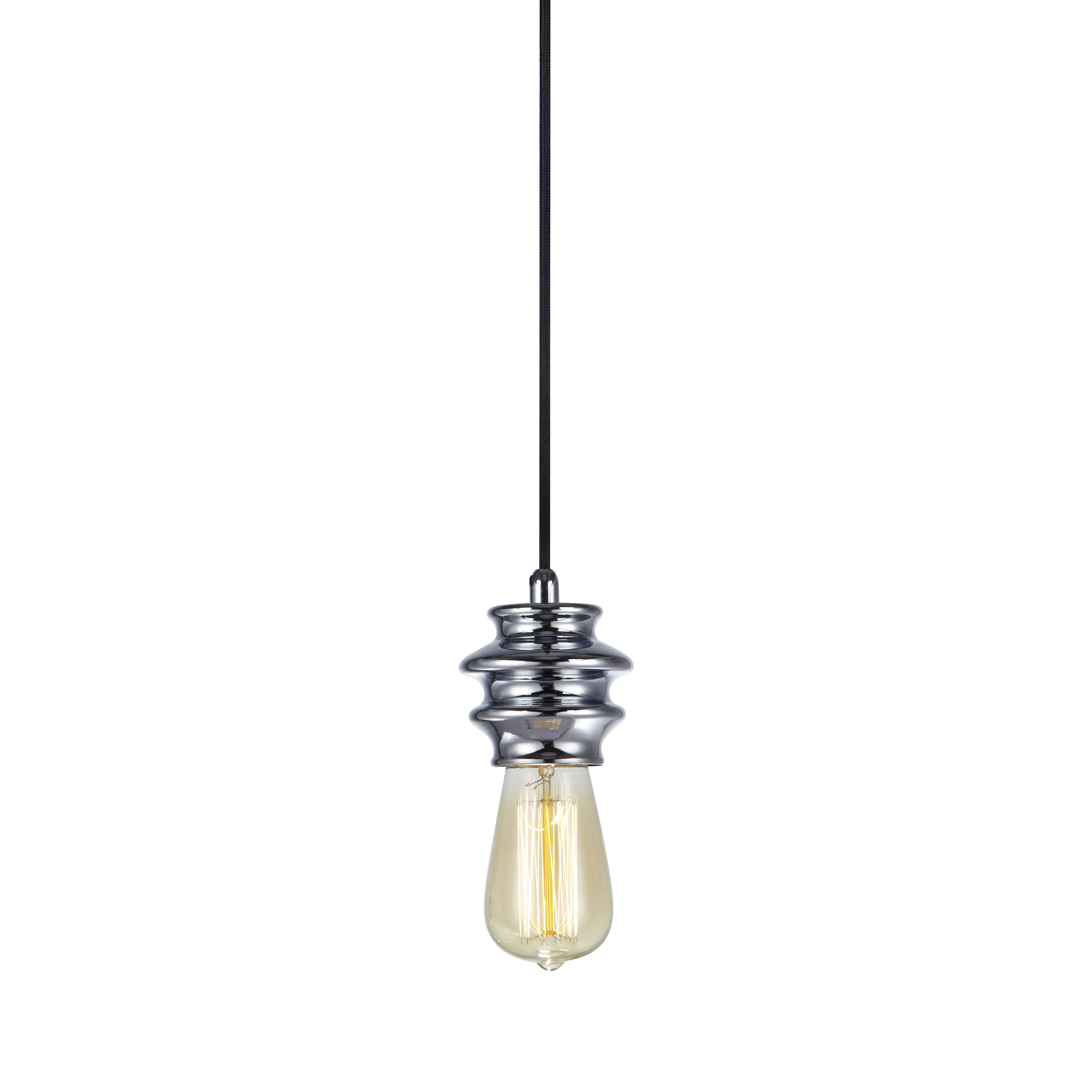Fab 1-lichts hanglamp chroom