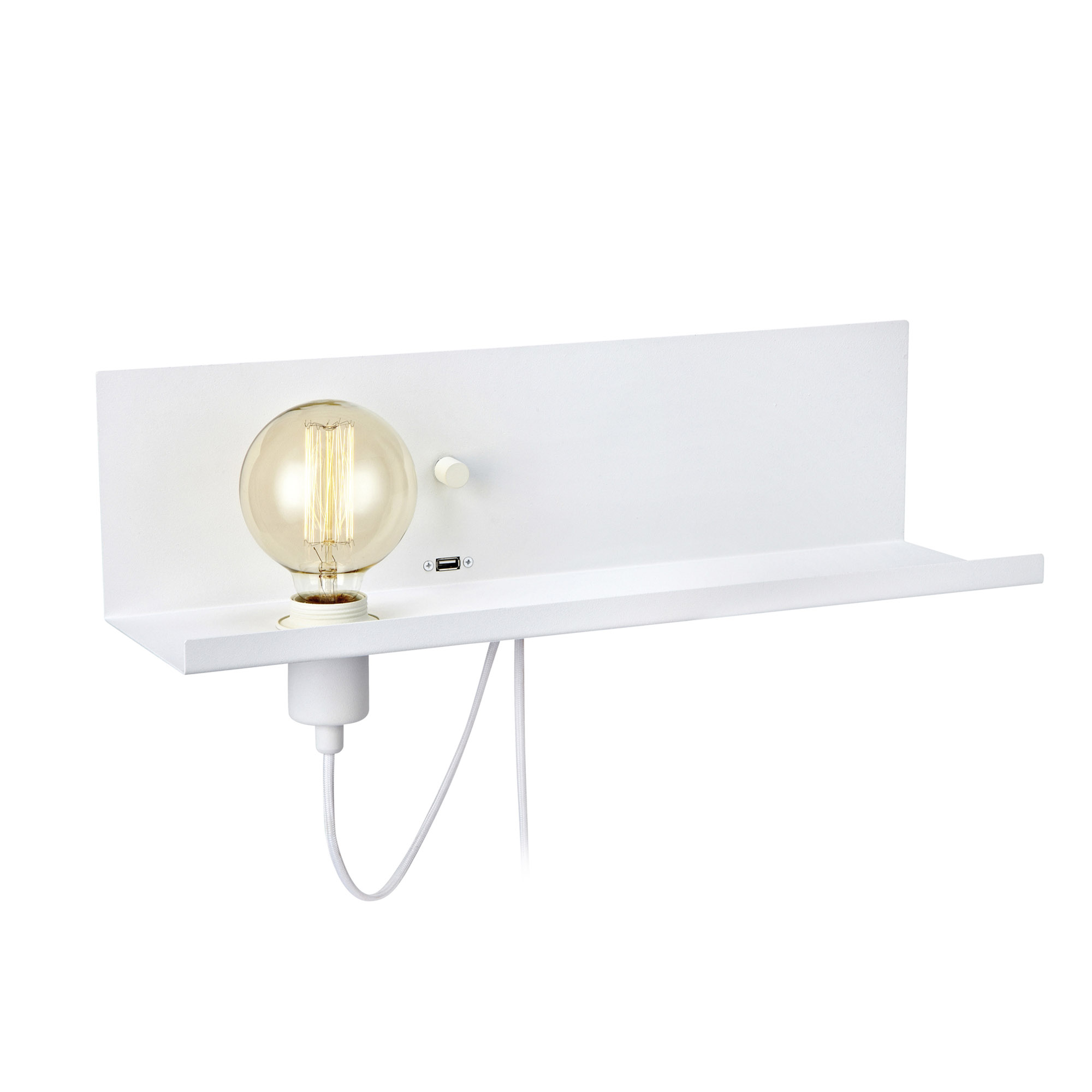 Multi Wandlamp USB Wit