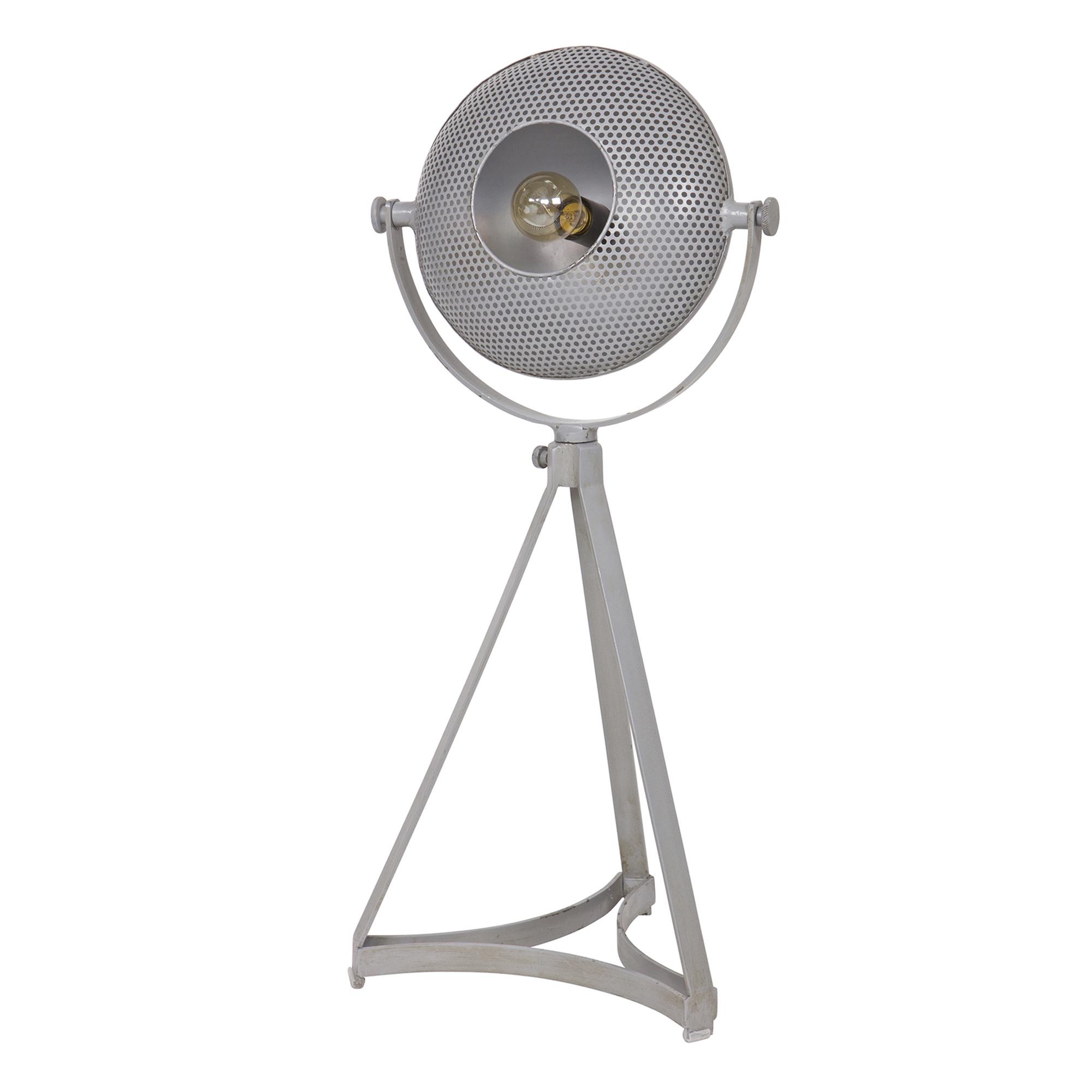 Tafellamp Blown metaal grijs