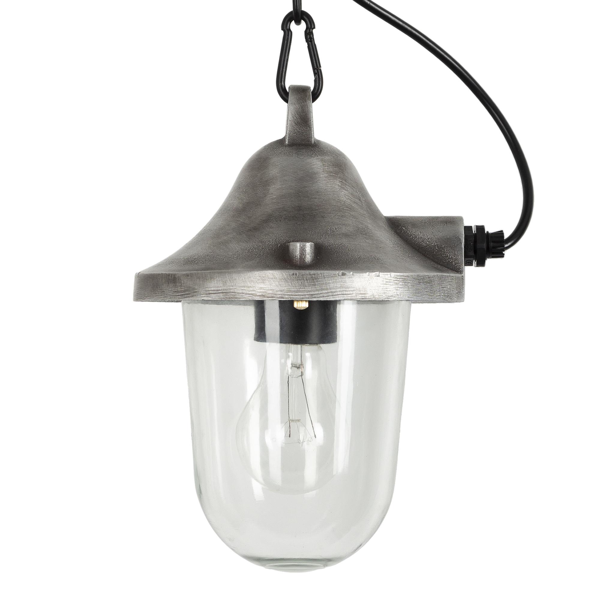 Hull kettinglamp ruw alumium