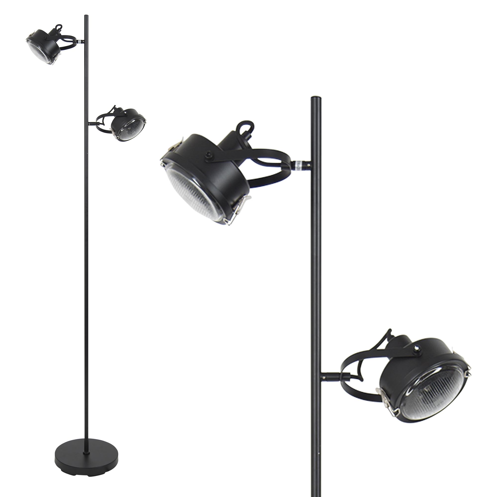 Satellite vloerlamp zwart