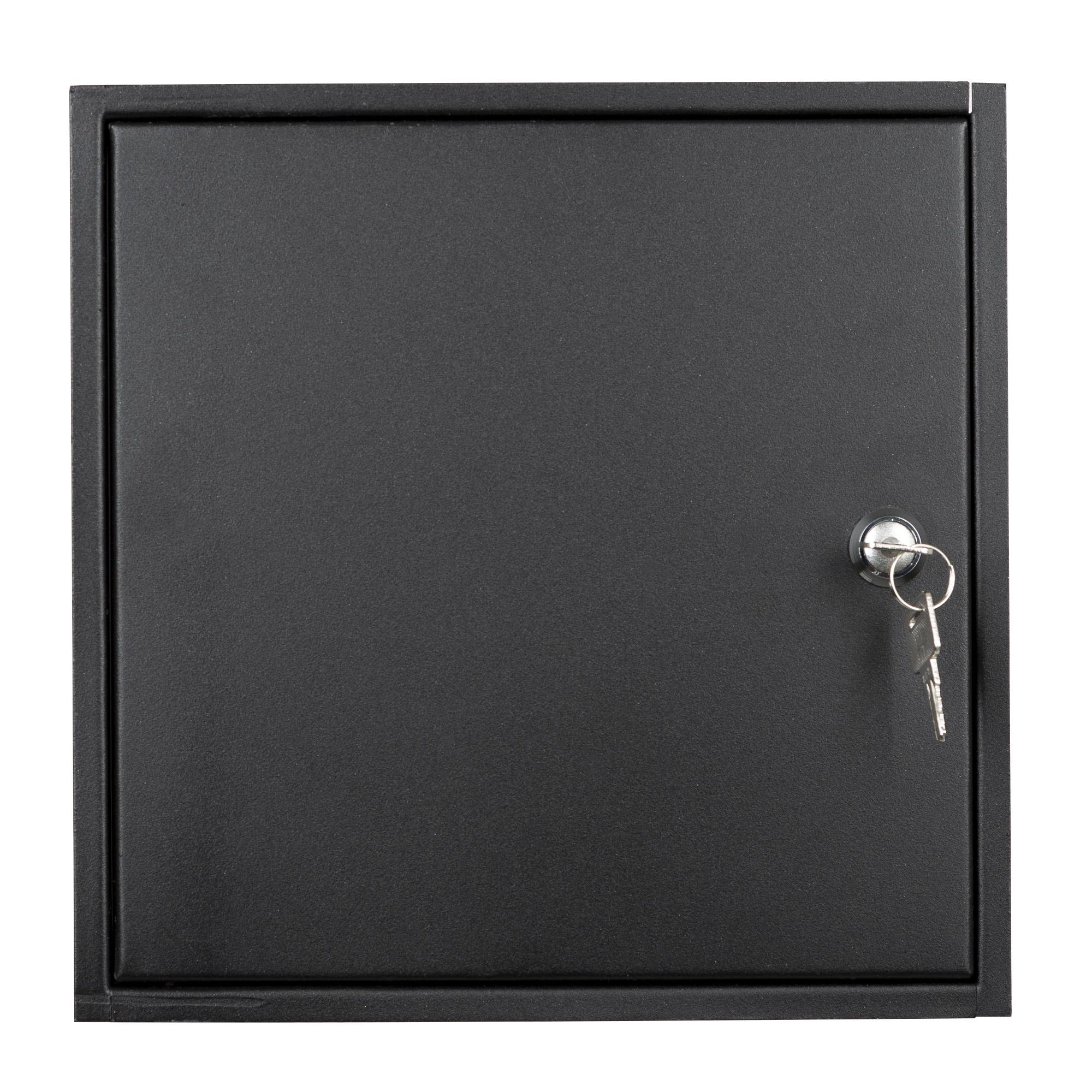 RVS brievenbus deur inbouw mat zwart