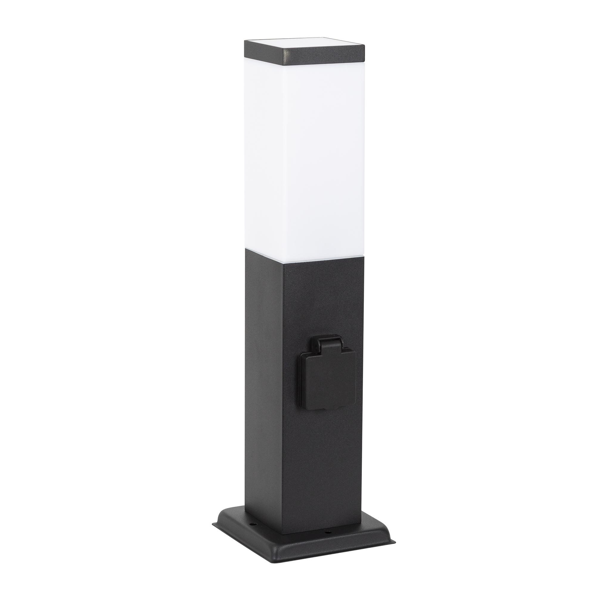 Fiss Tuinlamp zwart met Stopcontact
