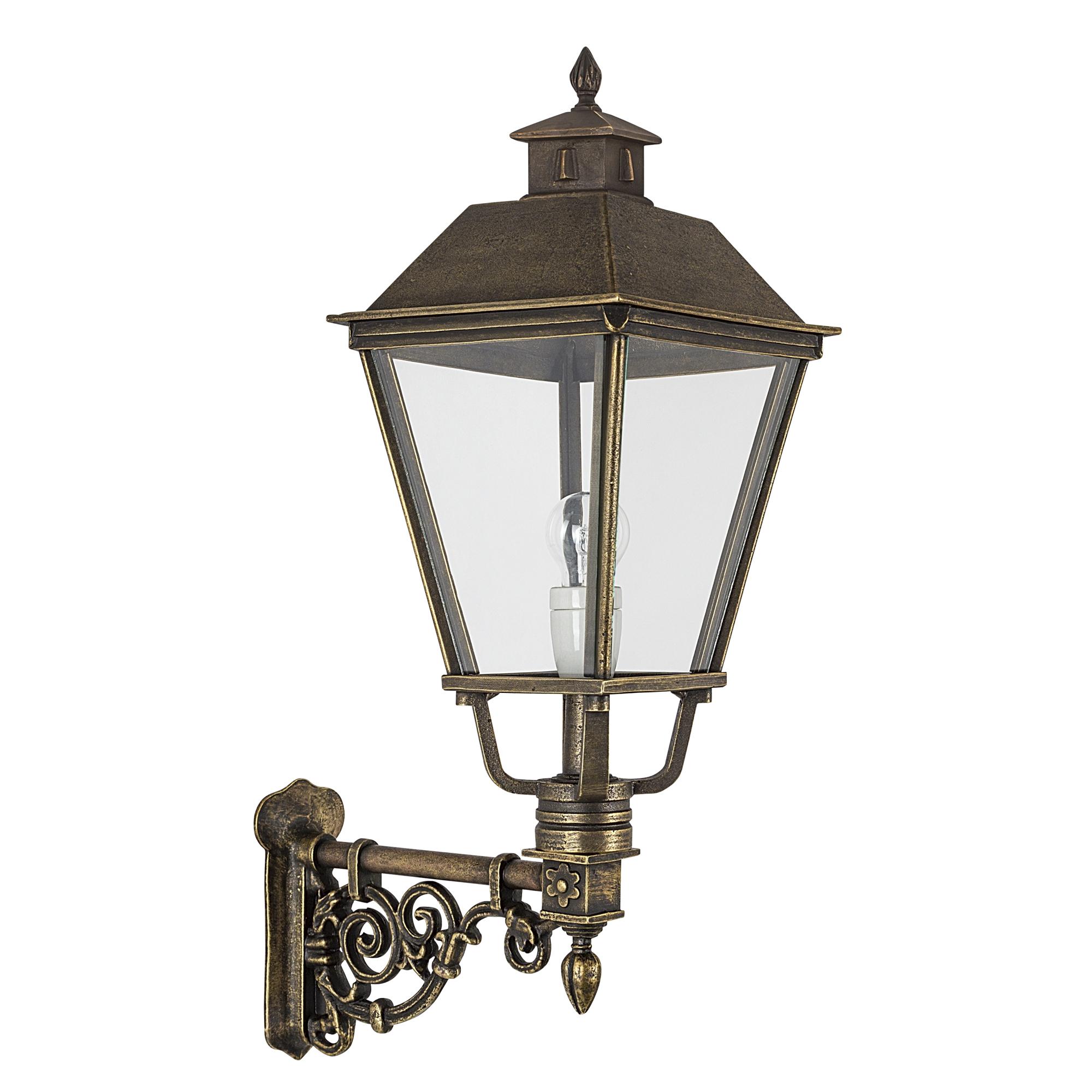 Muur lantaarn Katwijk L brons