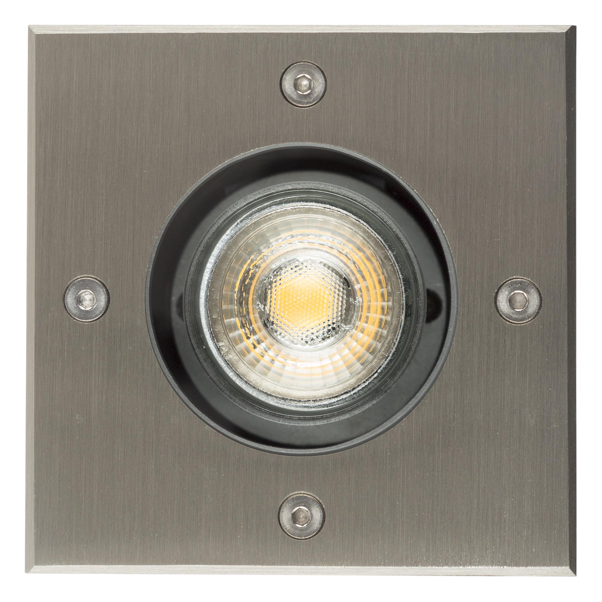 Grondspot LED Ø11 Vierkant RVS