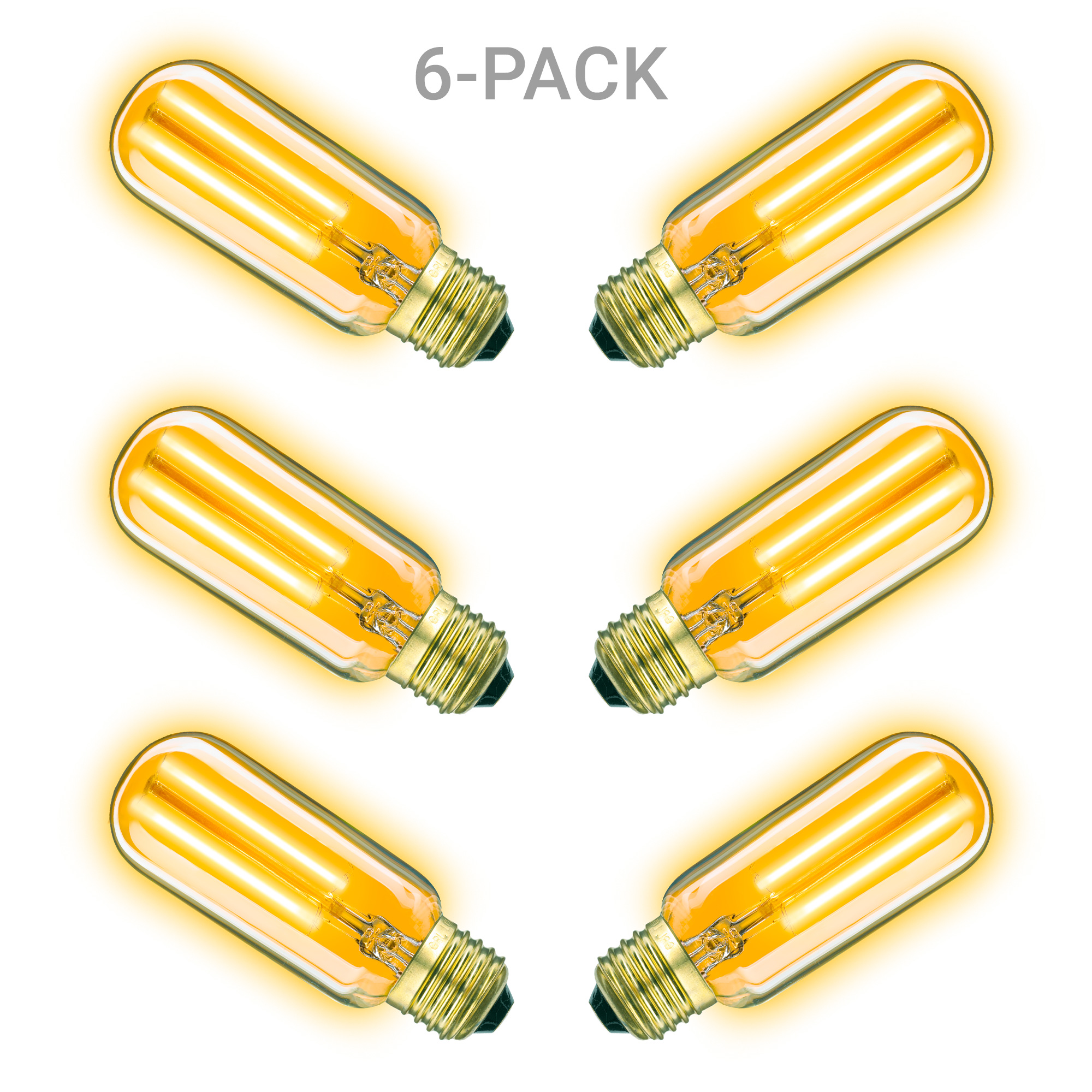 6 pack Classic gold 2W