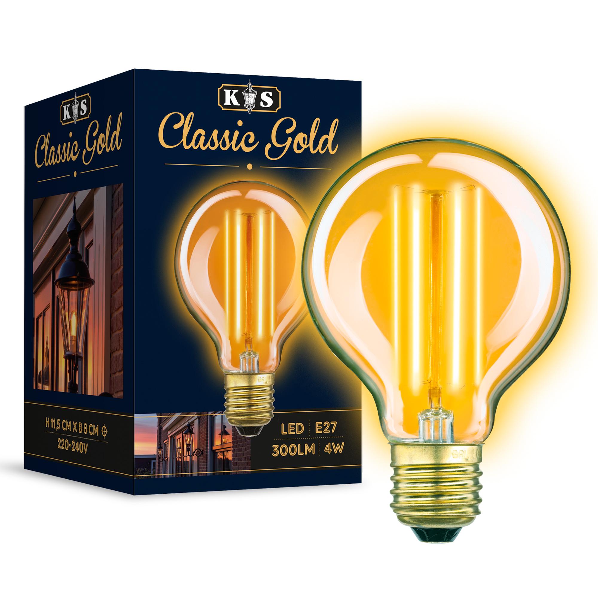 Classic Gold Globe LED lamp