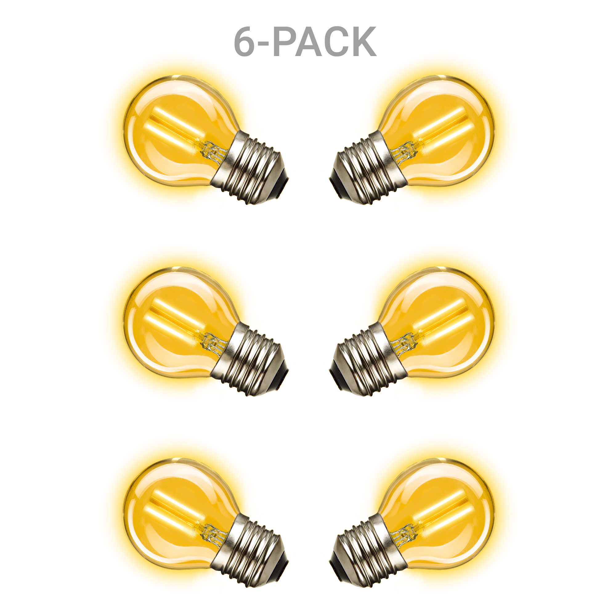 6 pack Mini Gold Ledlamp