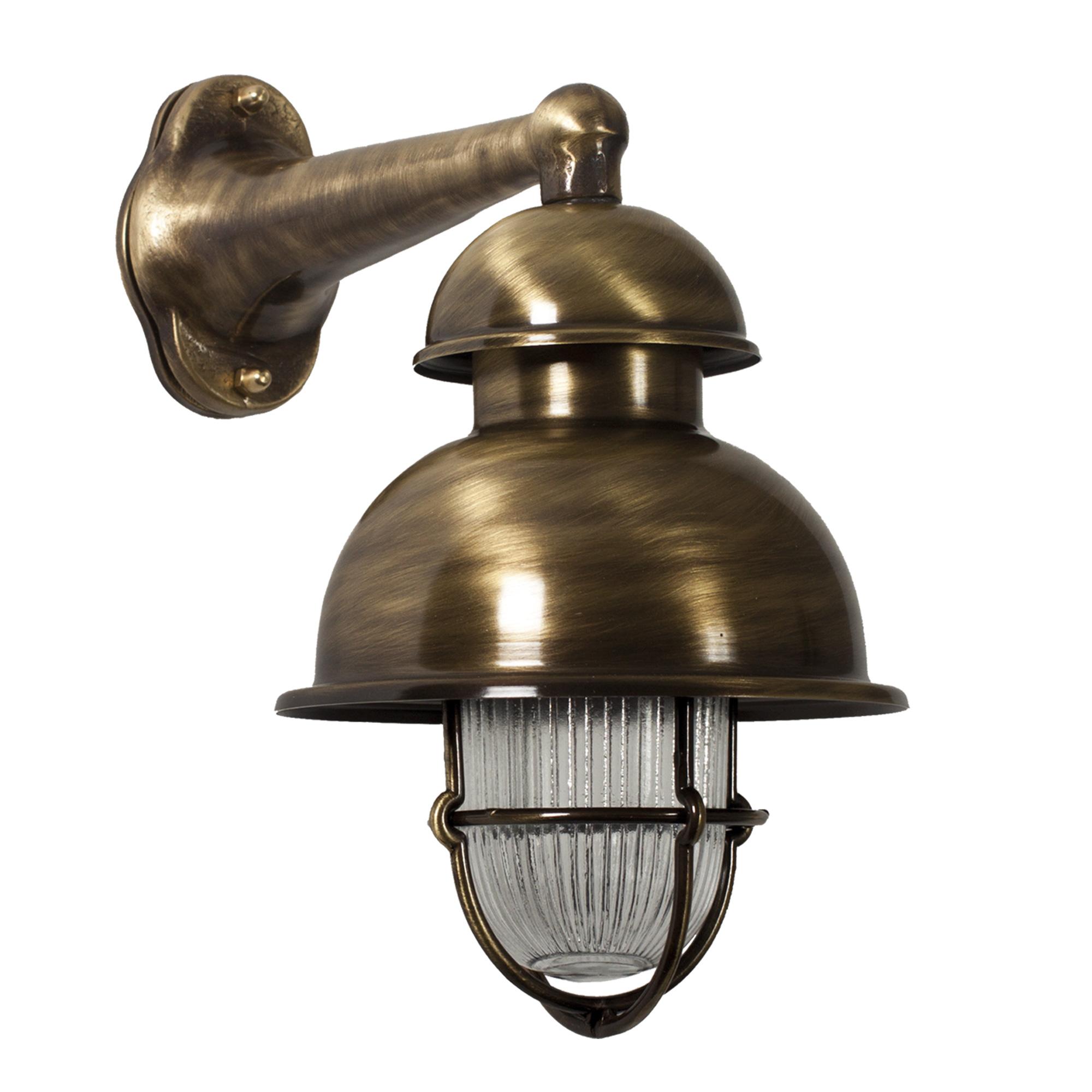 Scheepslamp Wharf Bronskleur