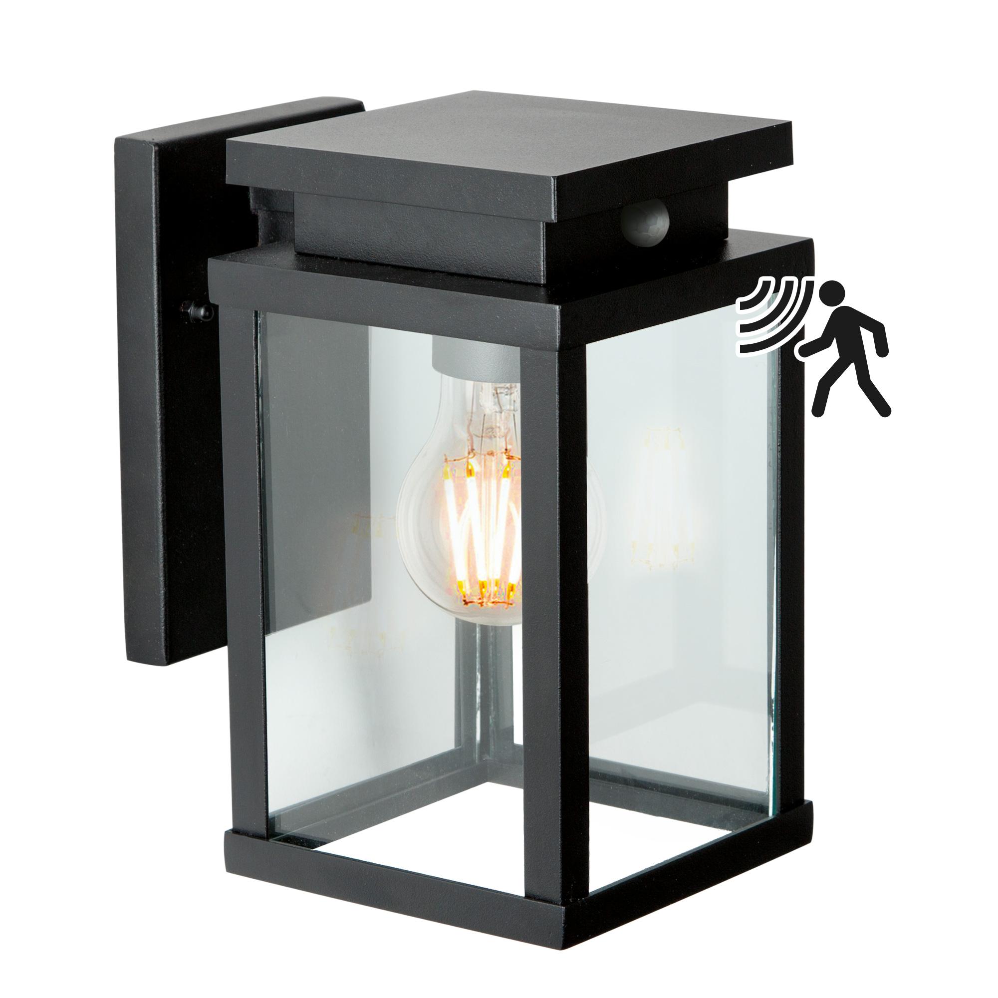 Buitenlamp Jersey Zwart Met Bewegingssensor
