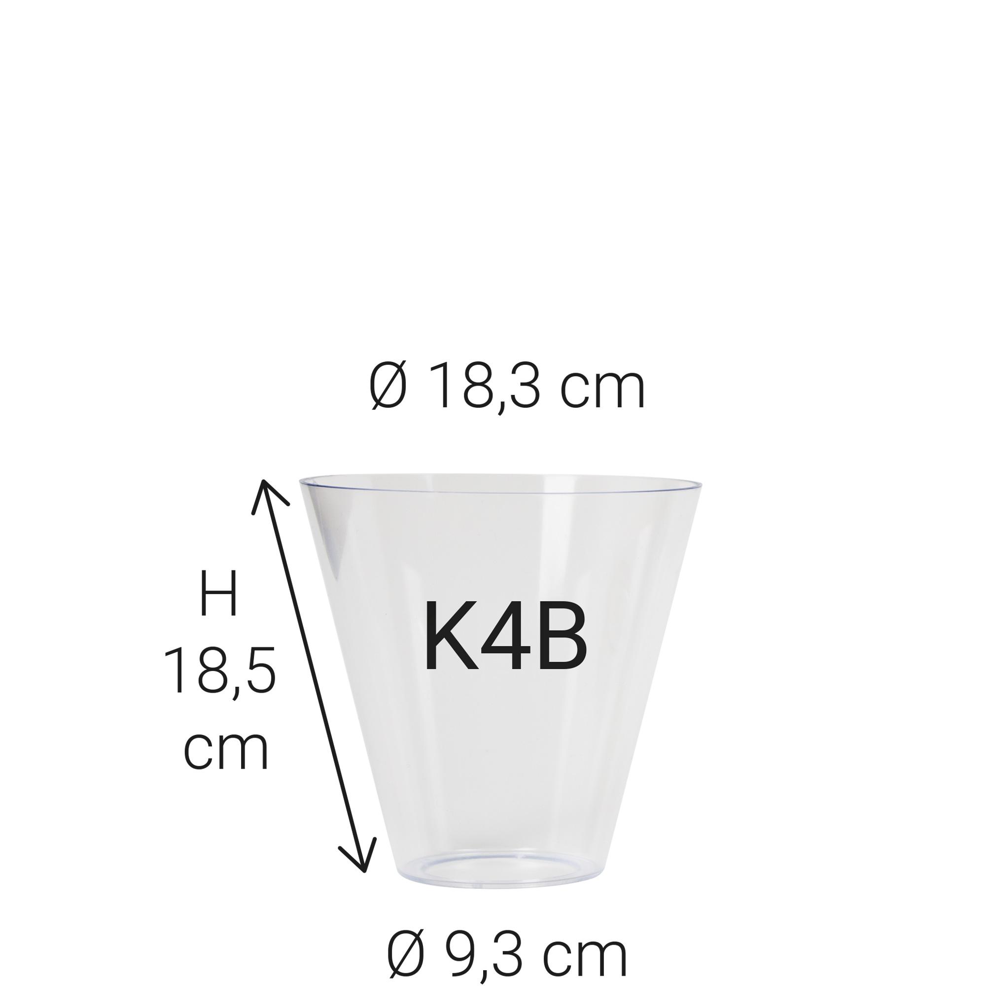 Kunststof glas K4B